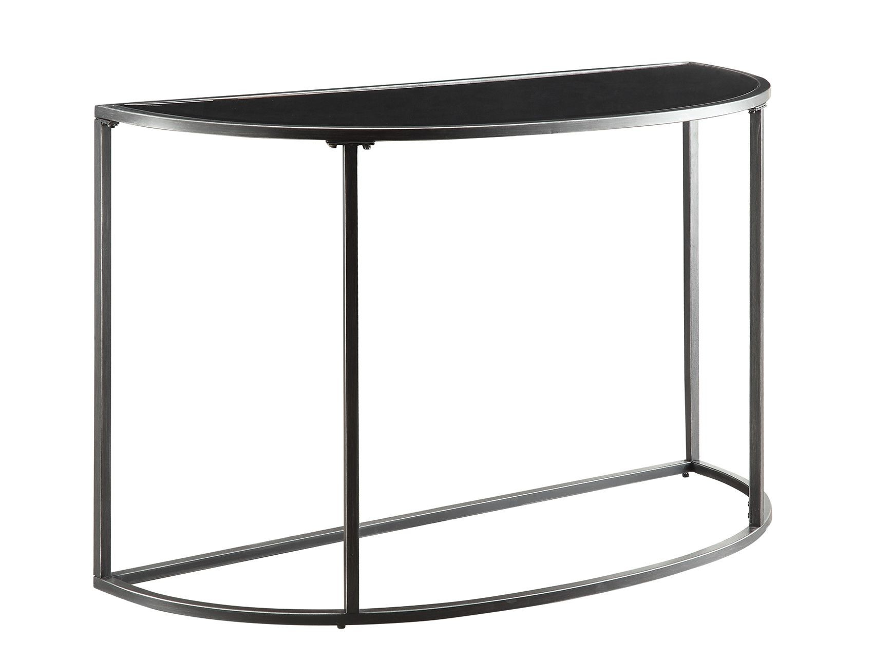 Black Glass Top Sofa Table From Coaster 704399 Coleman