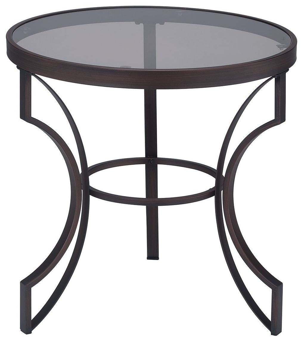 Metal End Tables ~ Bronze metal frame end table coaster furniture