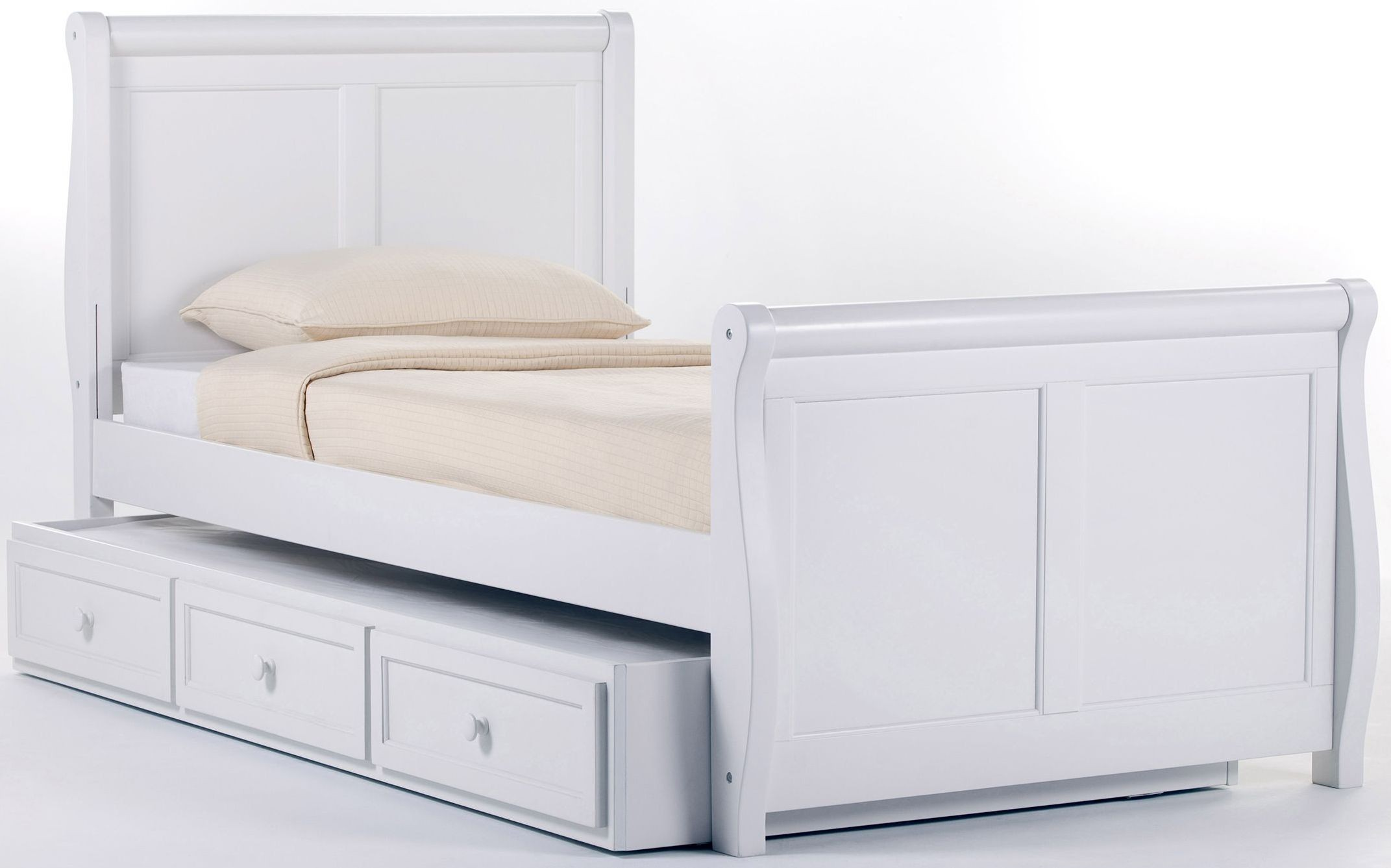 School house white twin sleigh bed with trundle 7050nt ne kids White twin trundle bedroom set