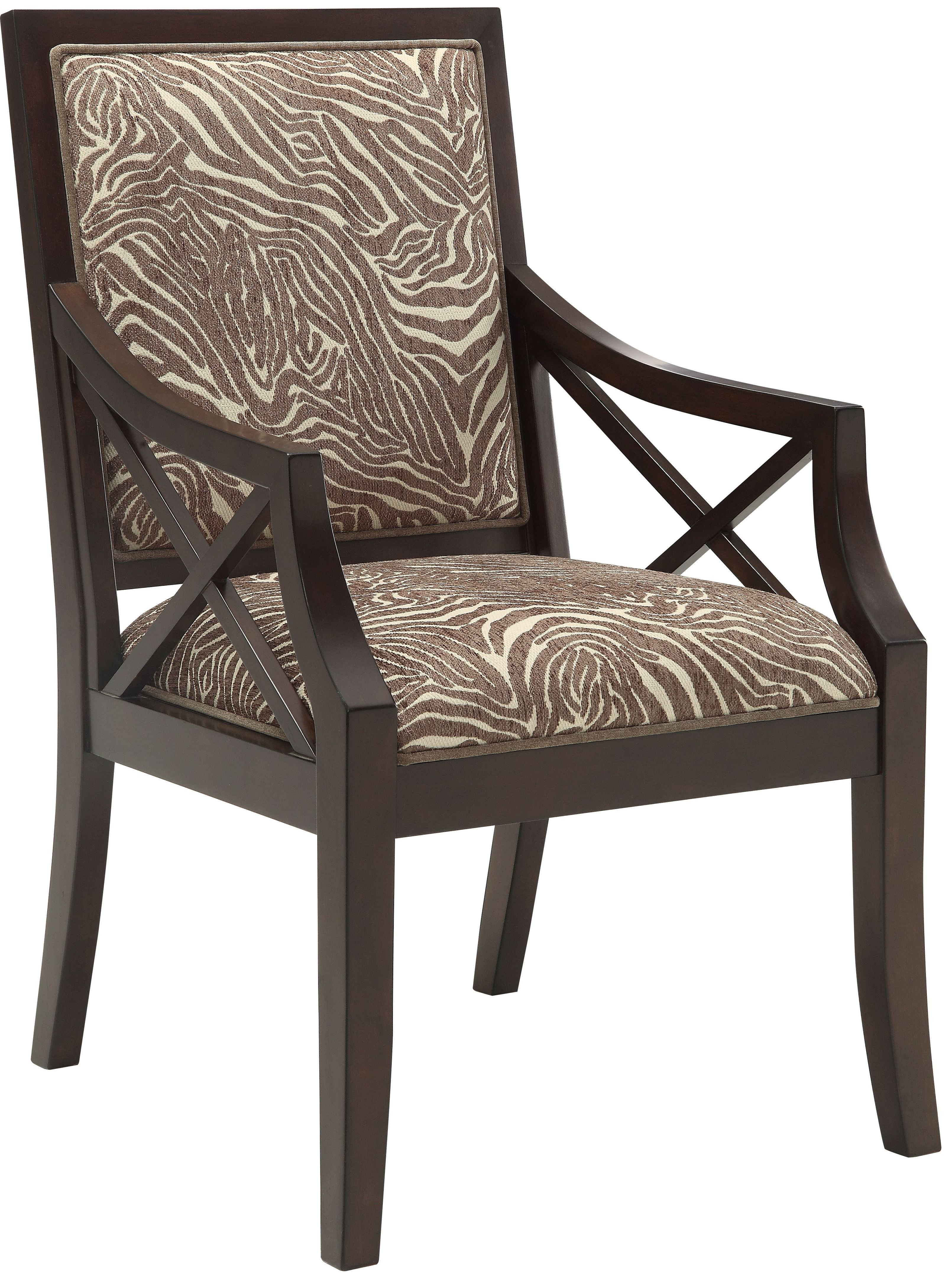 Beige Brown Animal Print Accent Chair From Coast To Coast 70732 Coleman Furniture