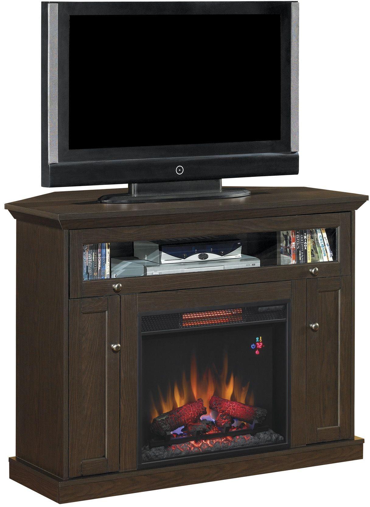 Classicflame Oak Espresso Windsor Tv Stand With 26