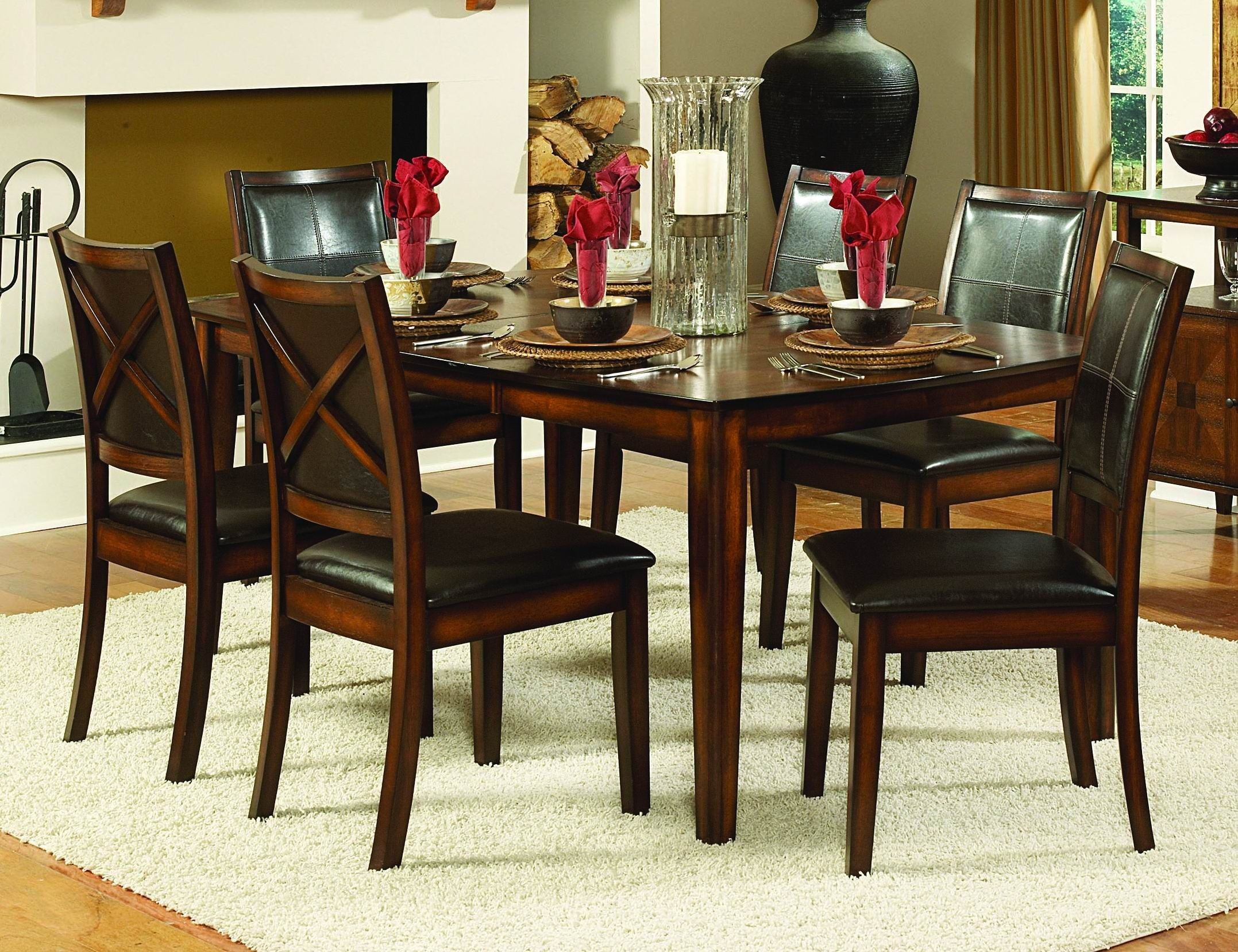 Verona Extendable Dining Room Set From Homelegance 727 72 Coleman Furniture