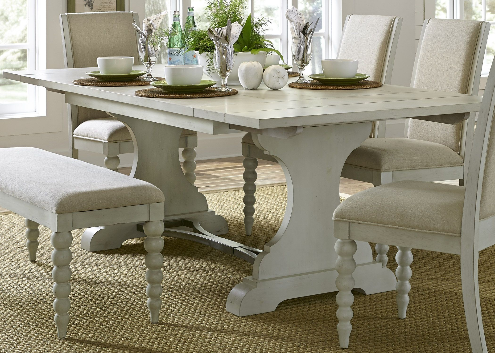 Harbor View Iii Extendable Trestle Dining Table From