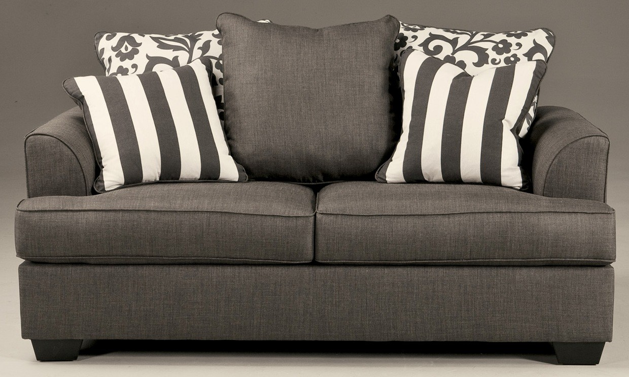 Levon Charcoal Loveseat From Ashley 7340335 Coleman Furniture