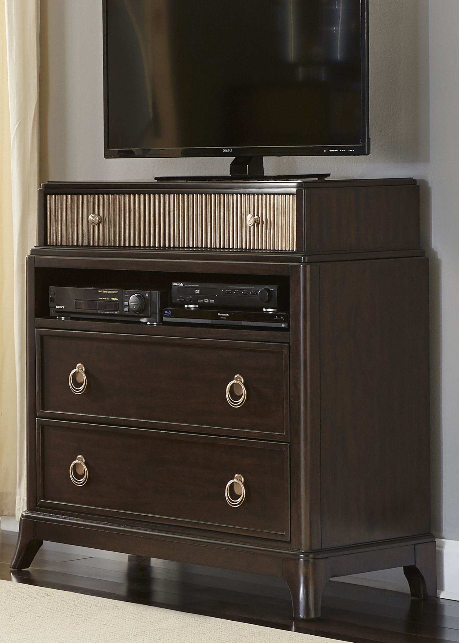 manhattan sable and champagne panel bedroom set from