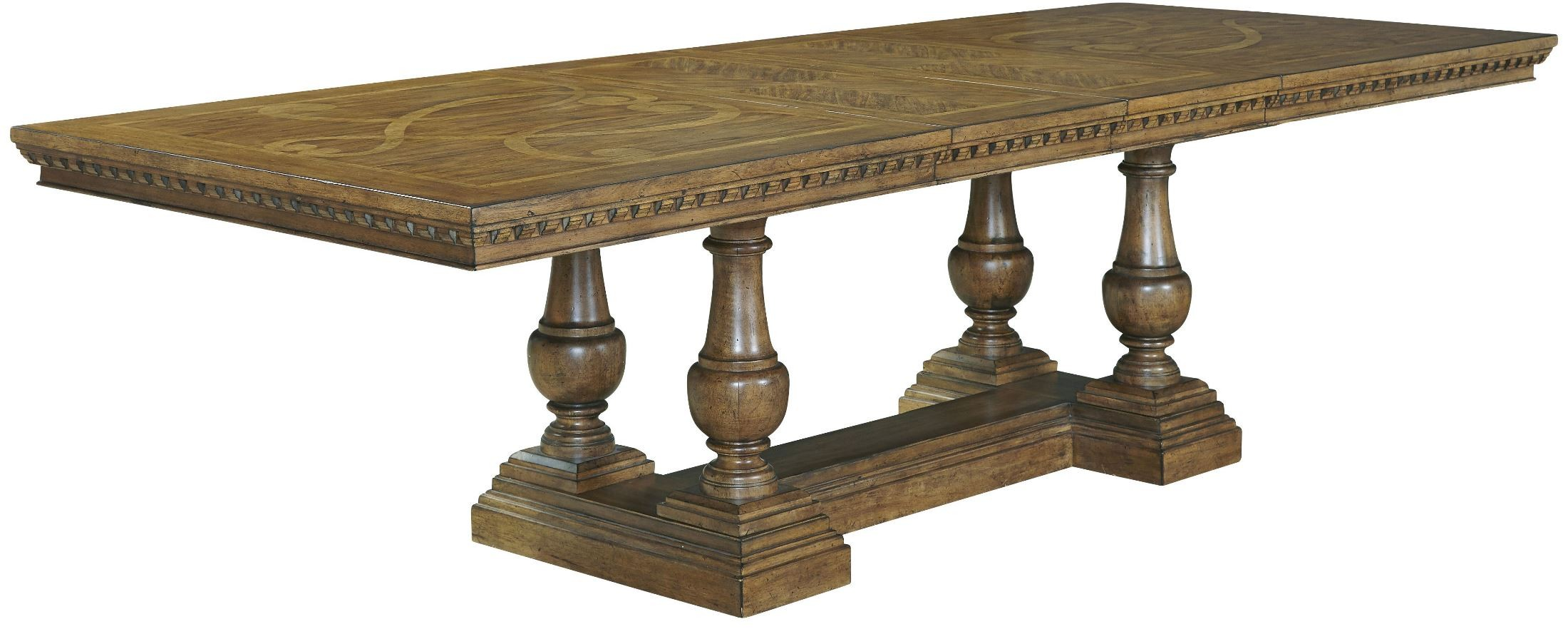 stratton medium wood extendable trestle dining table from pulaski 737240 41 coleman furniture. Black Bedroom Furniture Sets. Home Design Ideas