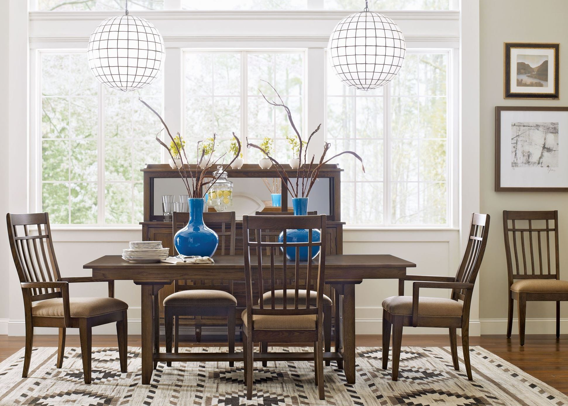 bedford park extendable trestle dining room set from