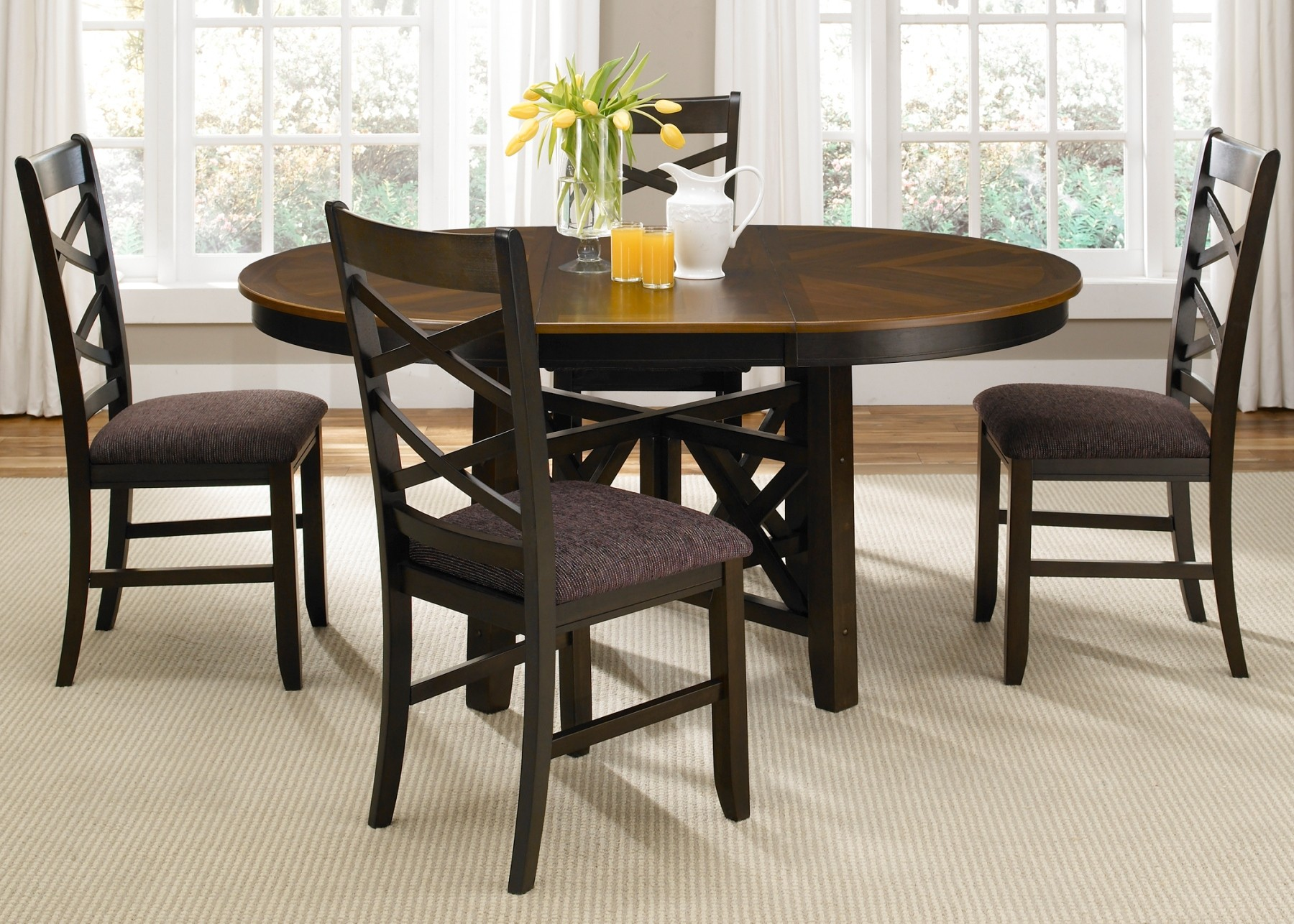bistro ii oval extendable pedestal dining room set from liberty 74 p4866 t4866 coleman furniture. Black Bedroom Furniture Sets. Home Design Ideas