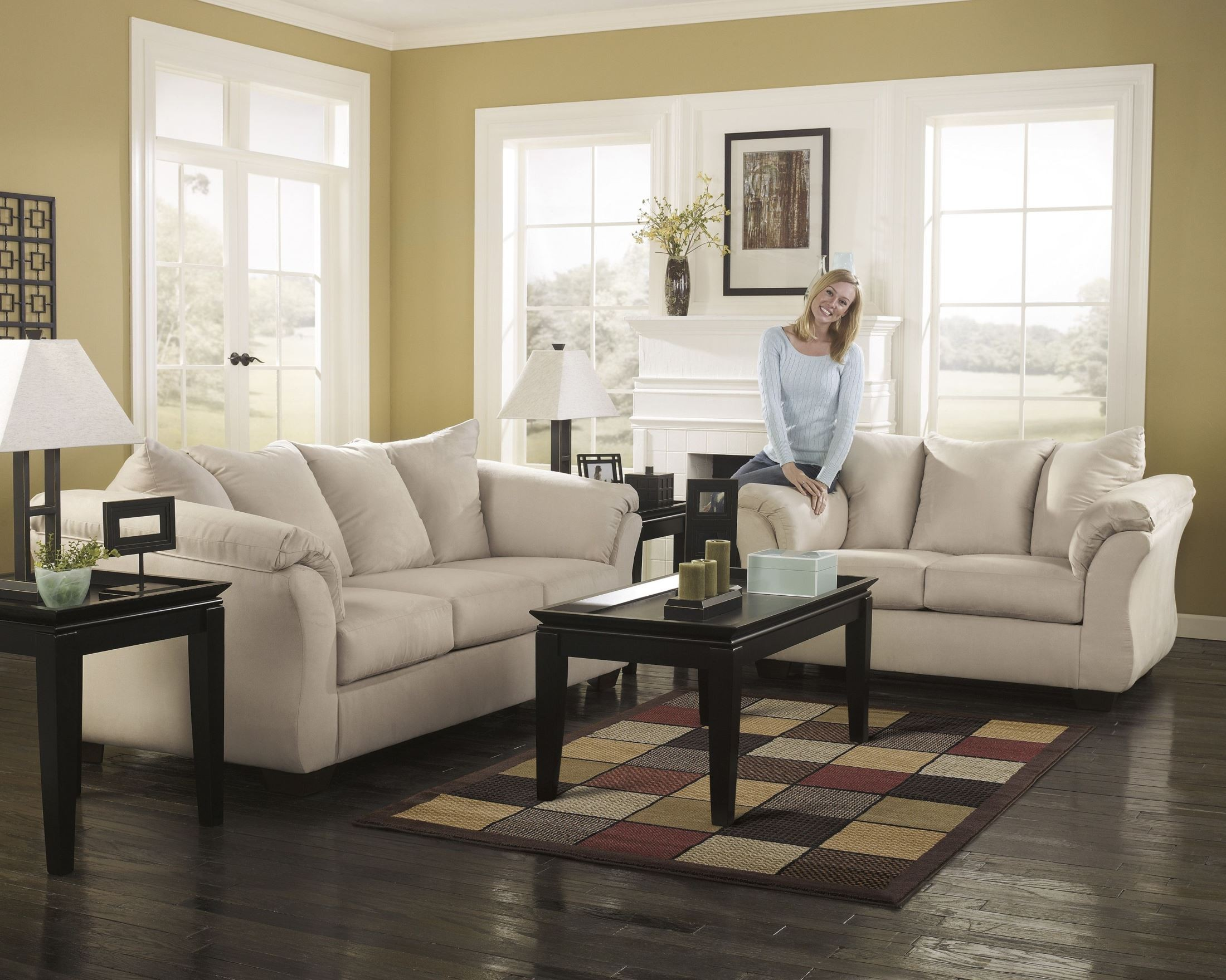 Darcy stone chaise sectional from ashley 7500018 for 750 sofa chaise