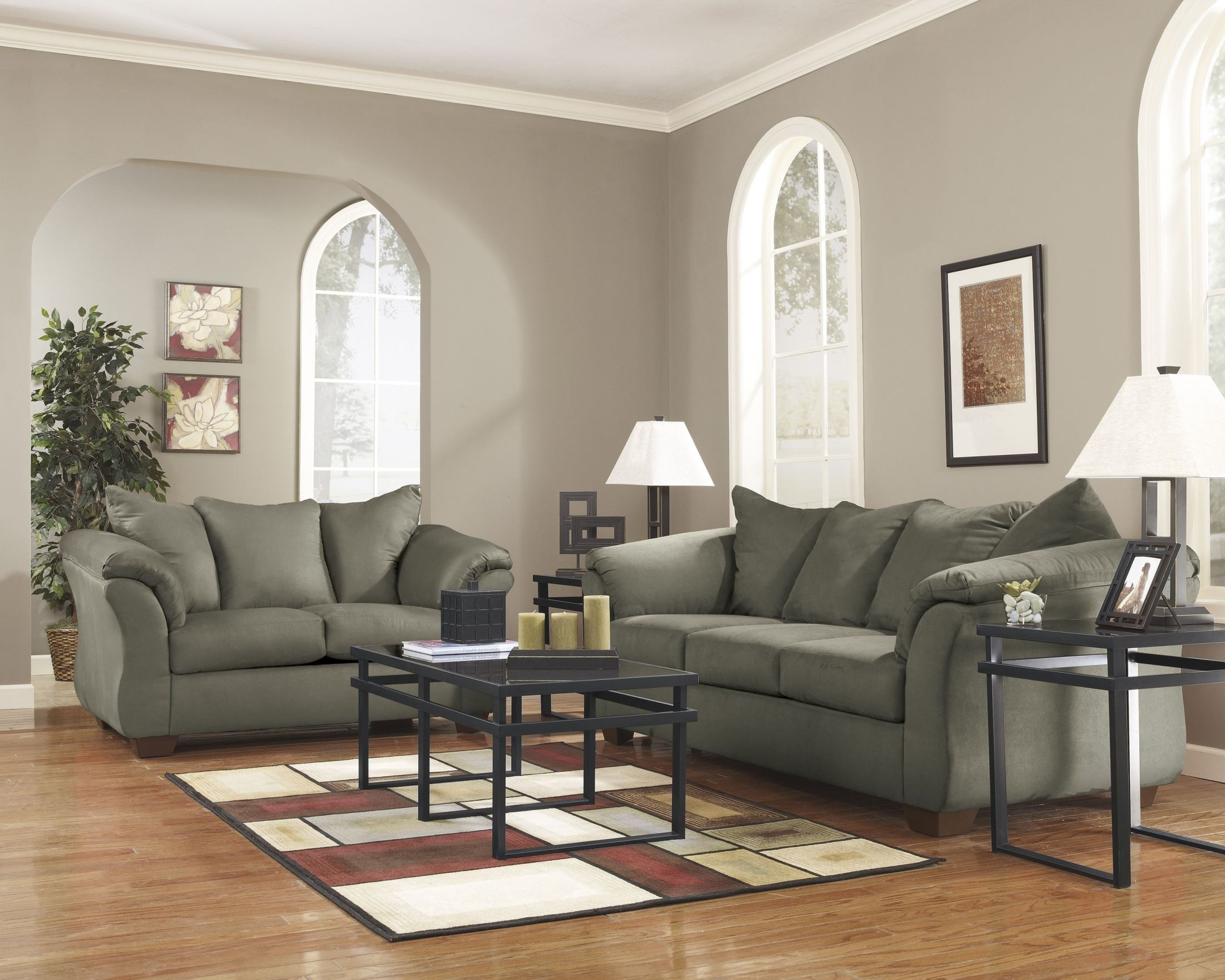Darcy Sage Chaise Sectional From Ashley 7500318 Coleman Furniture