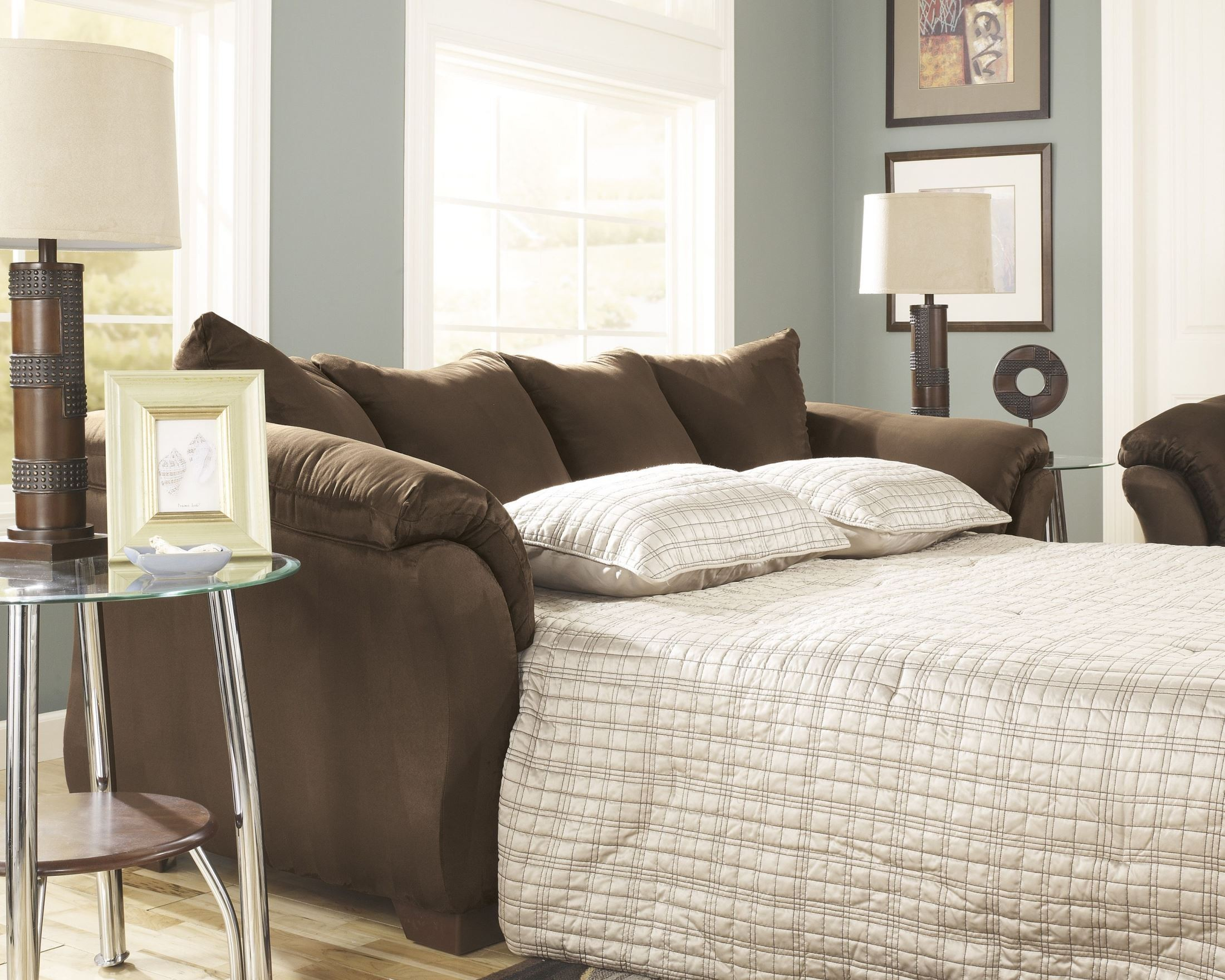 Darcy Cafe Full Sofa Chaise Sleeper From Ashley 7500458