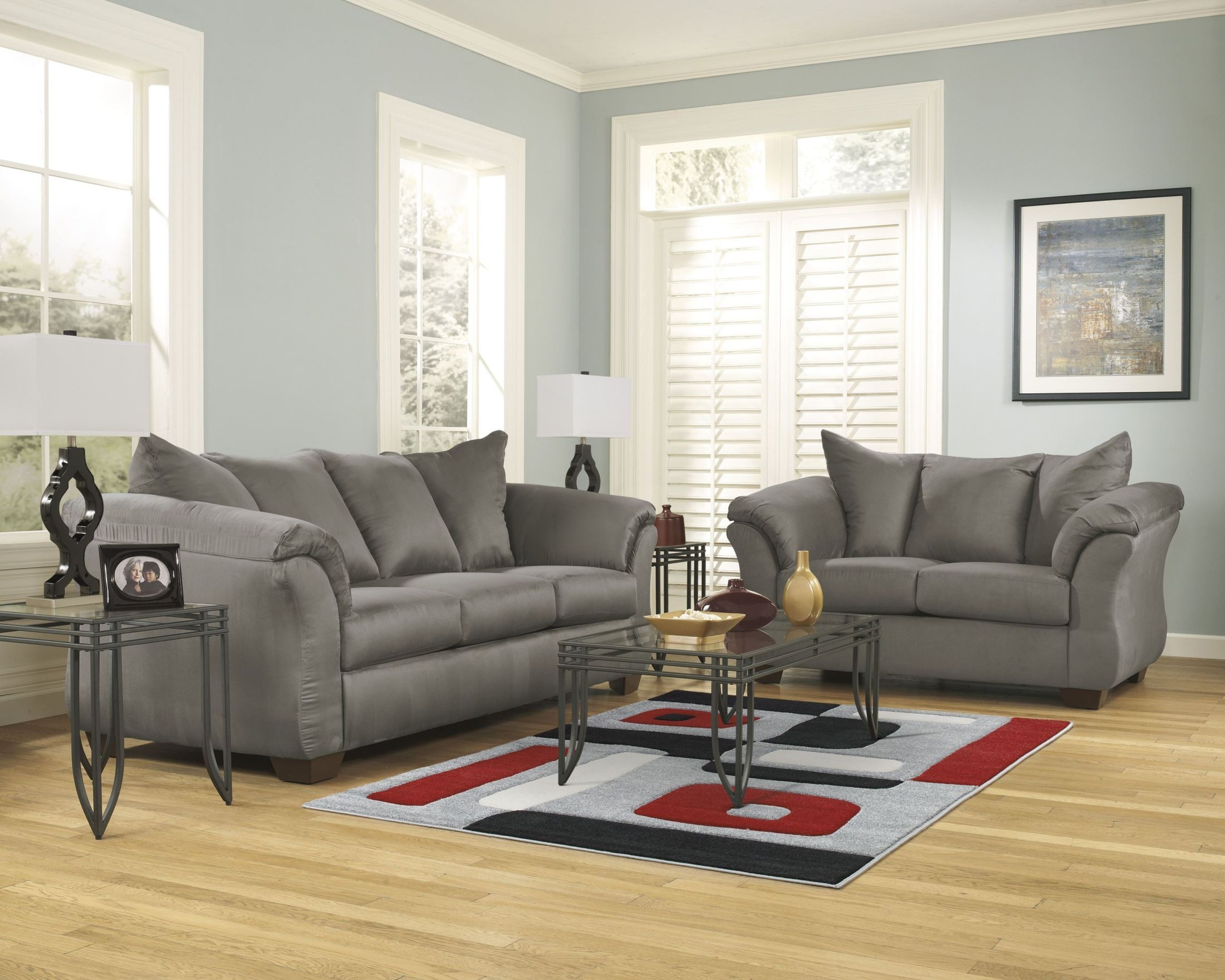 darcy cobblestone chaise sectional from ashley 7500518 On ashley durapella chaise