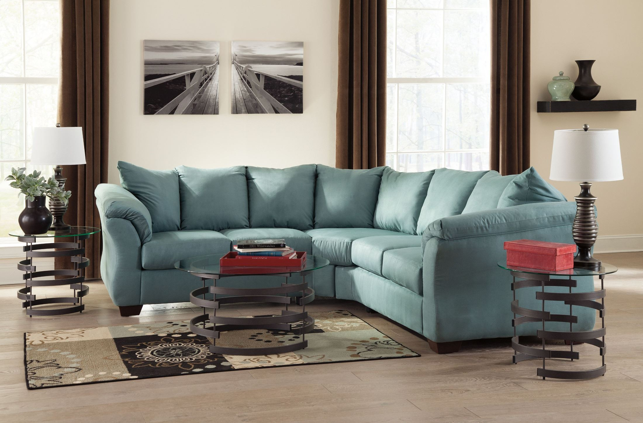 Darcy sky sectional from ashley 75006 55 56 coleman for Furniture xchange new jersey