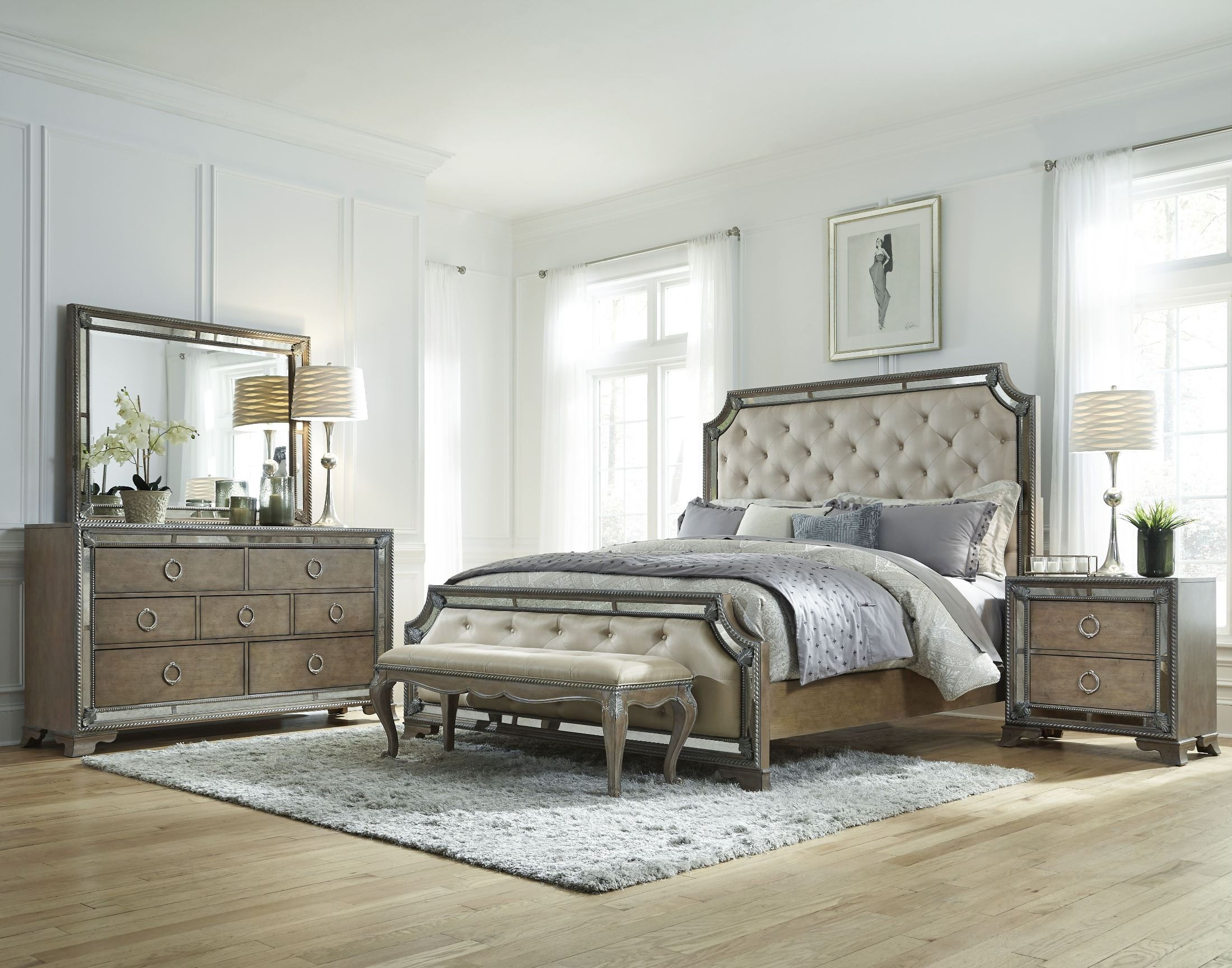 panel bedroom set from pulaski 757170 71 72 coleman furniture