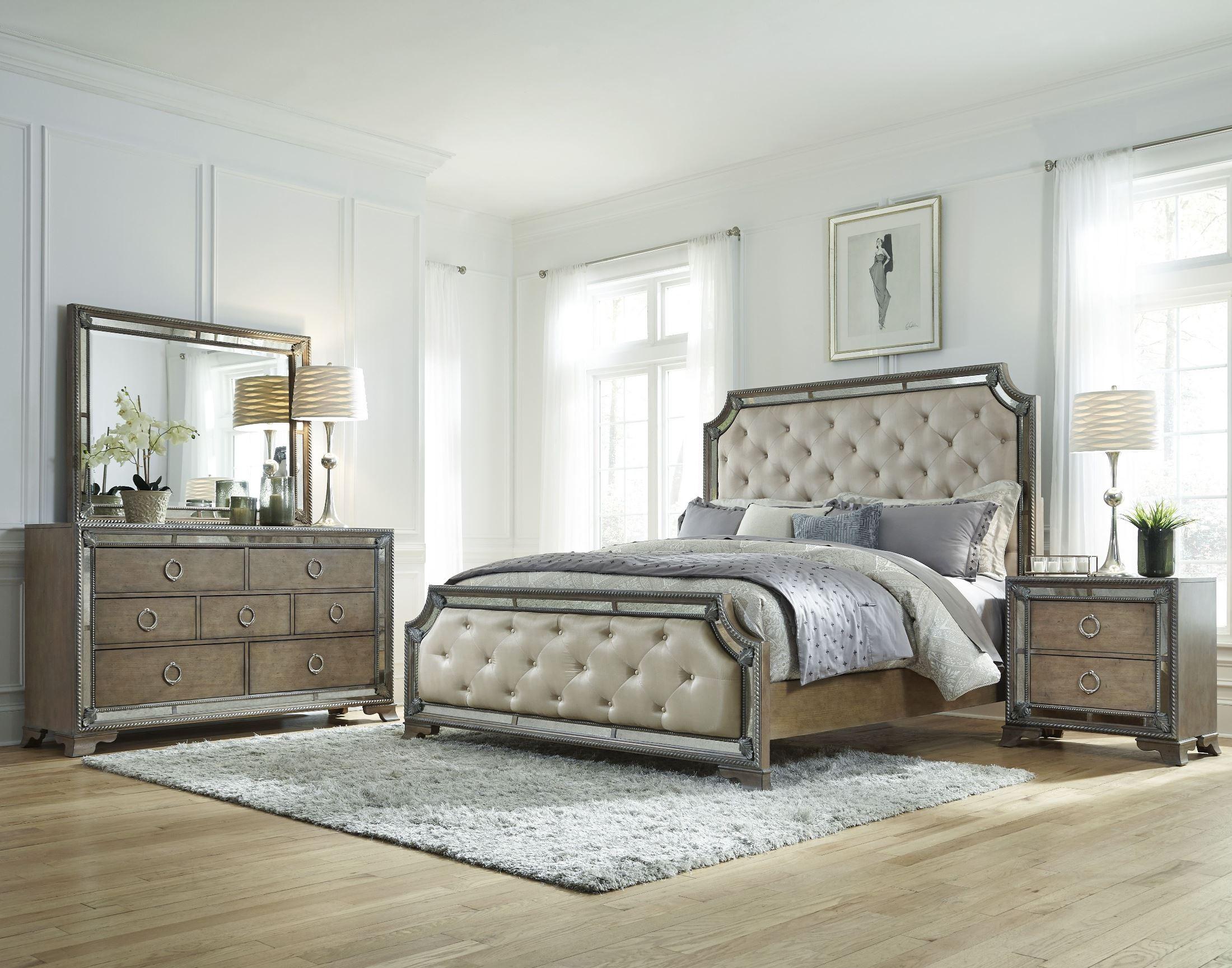 Karissa Light Wood Upholstered Panel Bedroom Set from ...
