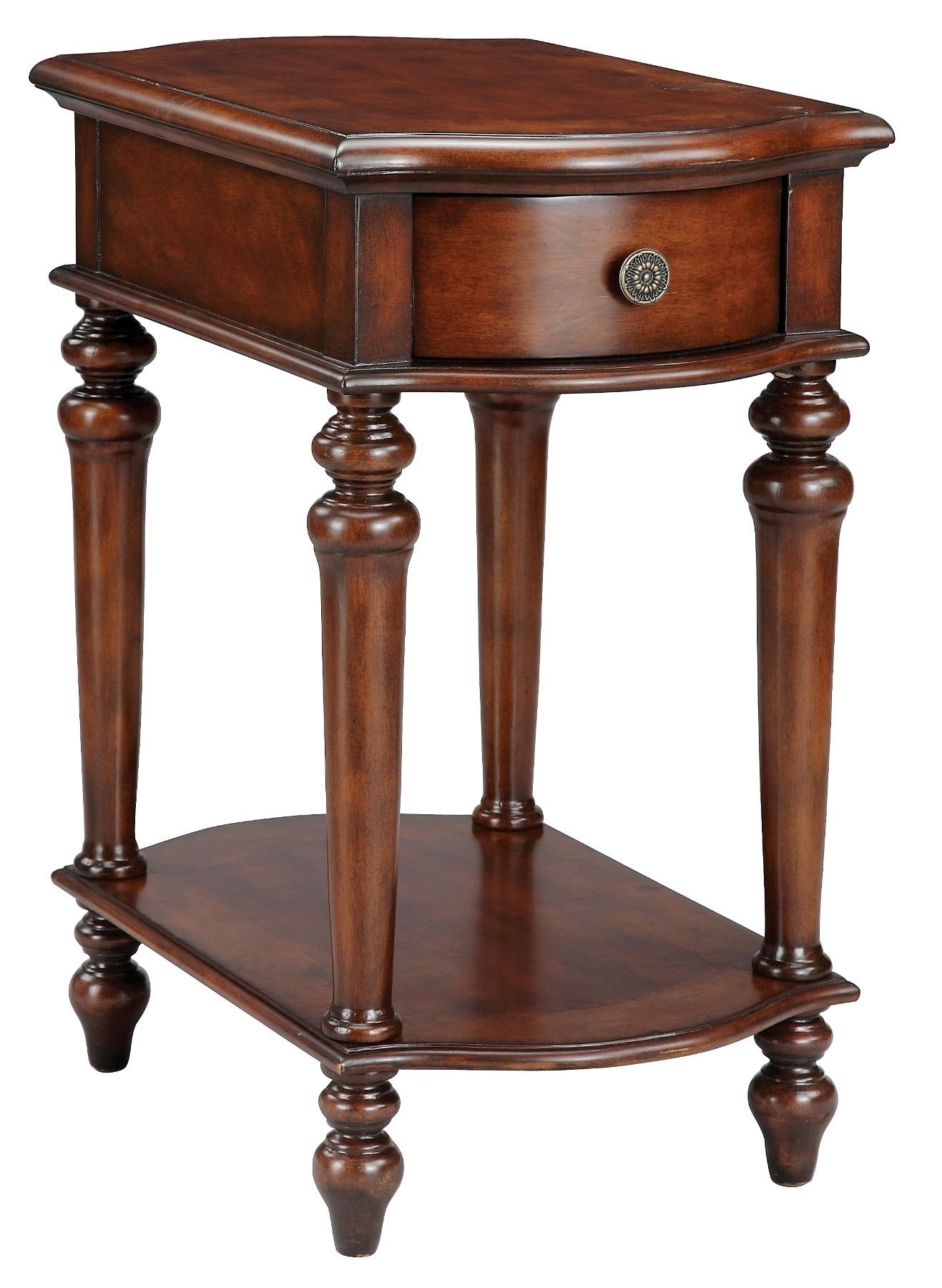 dark teak chairside table