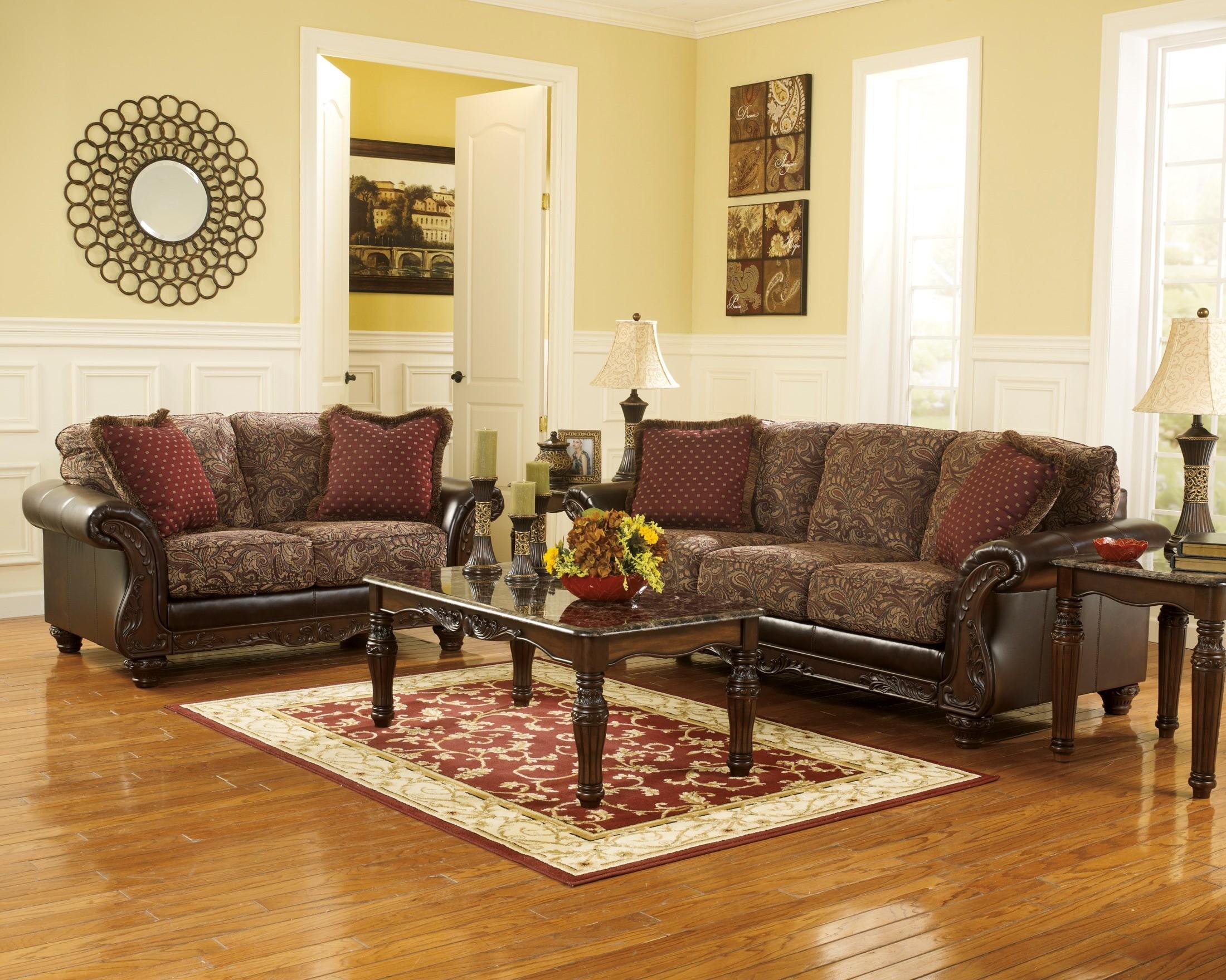 Macneill umber living room set 75802 ashley furniture - Living room furniture sets ashley ...