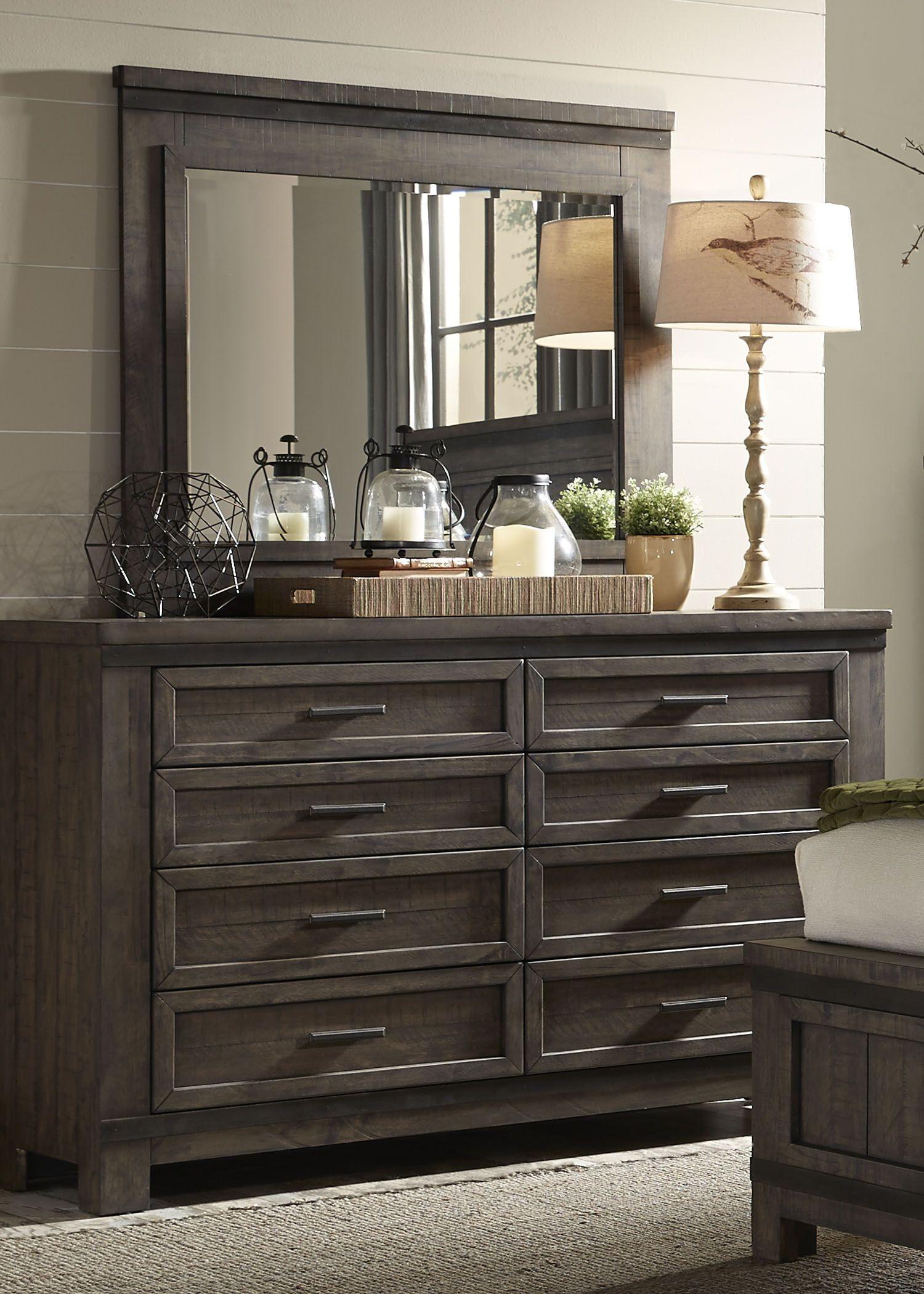 thornwood hills rock beaten gray panel storage bedroom set