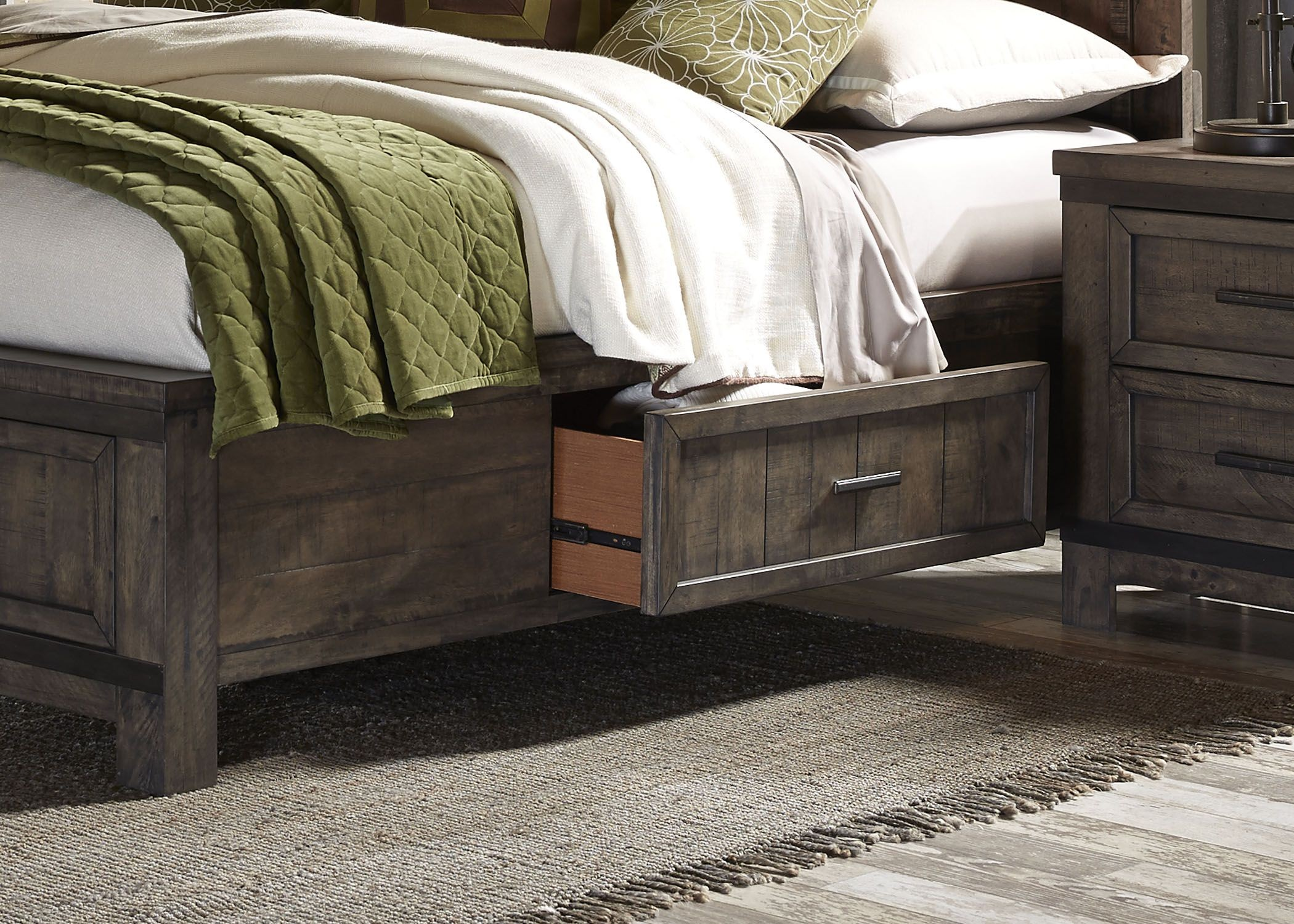 thornwood hills rock beaten gray two sided panel storage thornwood beds store bigfurniturewebsite stylish