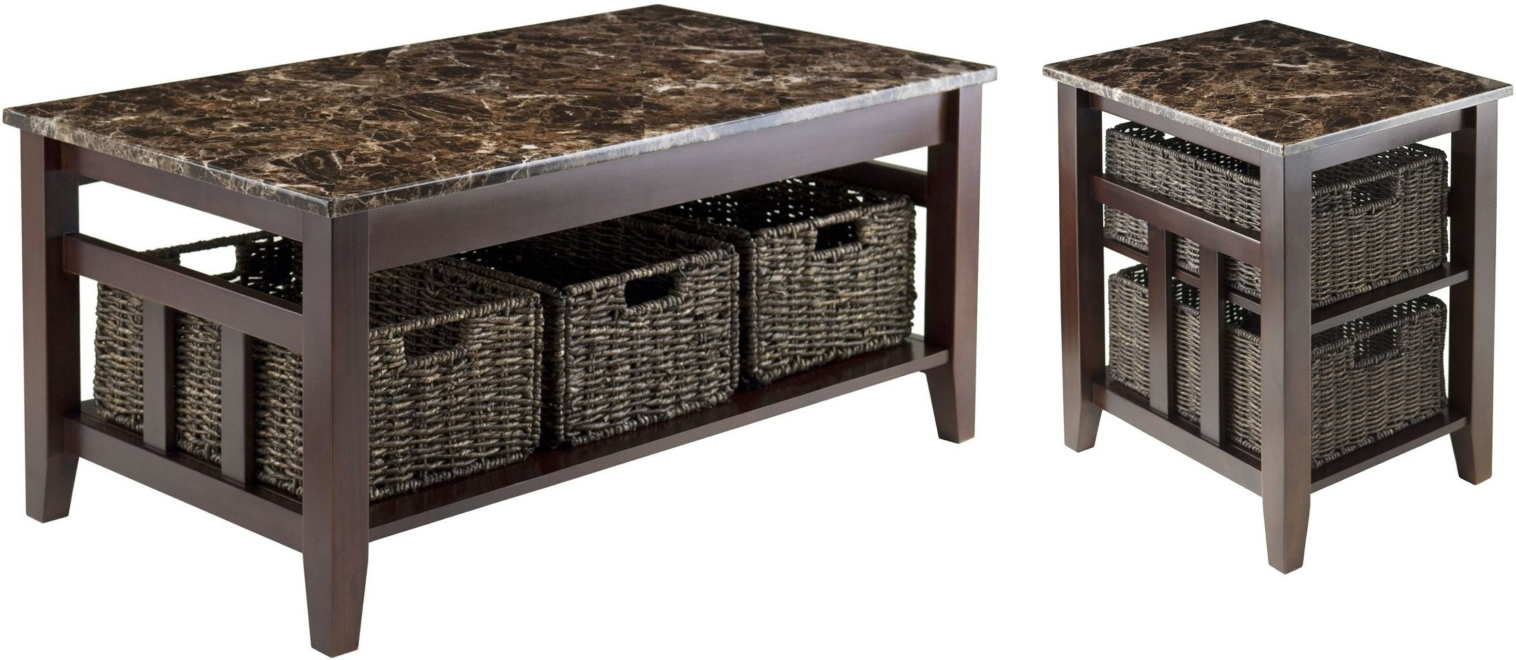 Zoey Faux Marble Top Coffee Table 76337 Winsome