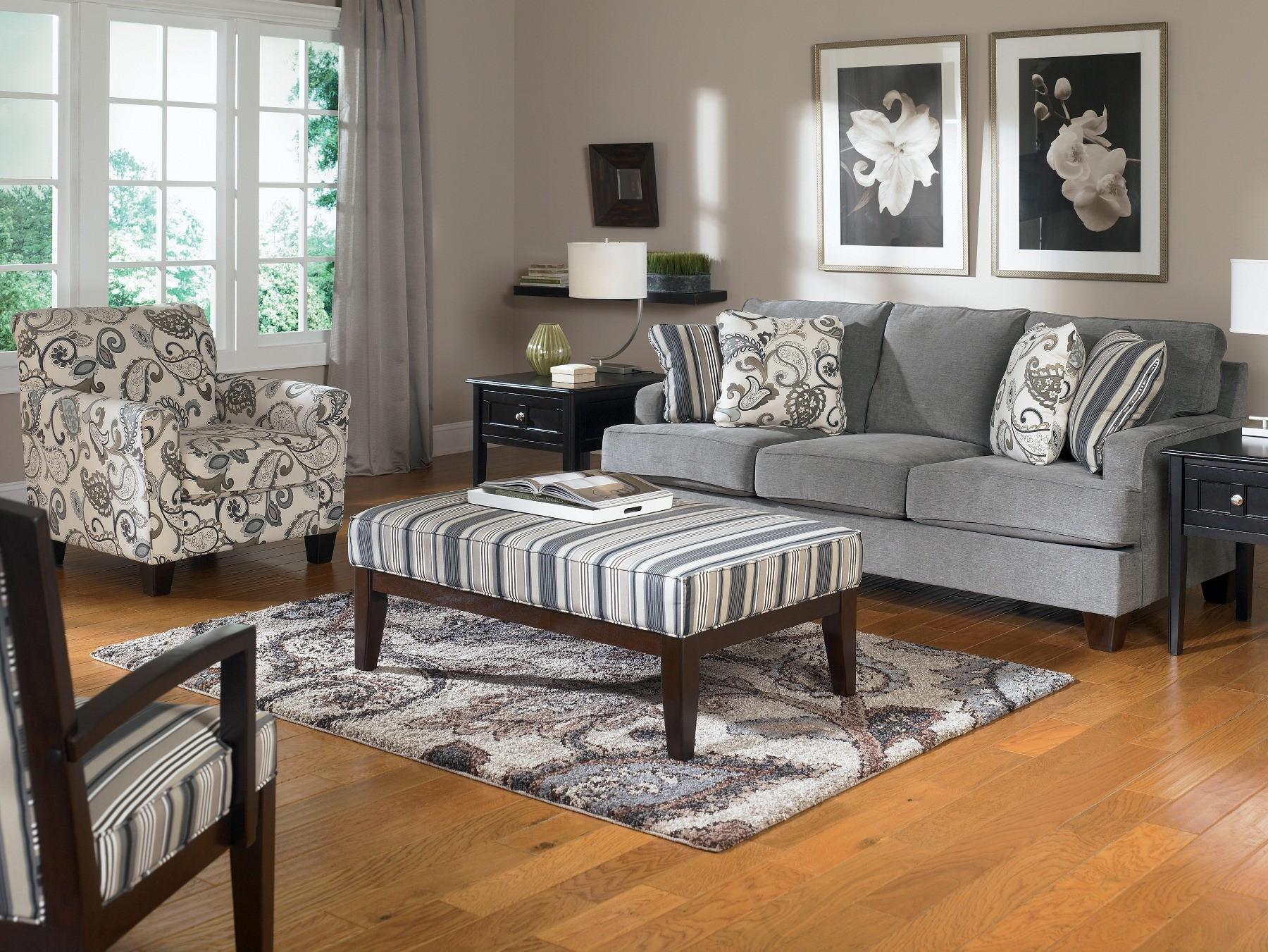 Yvette steel living room set from ashley 77900 coleman - Living room furniture sets ashley ...