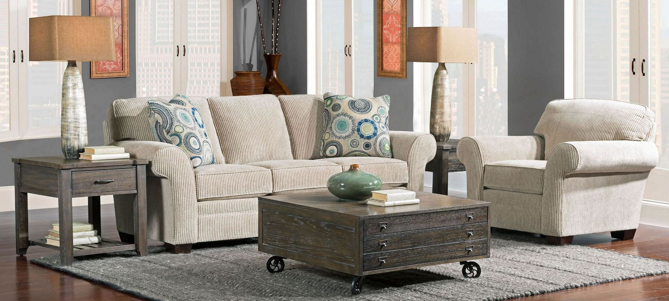 zachary affinity chenille fabric living room set from broyhill 7902