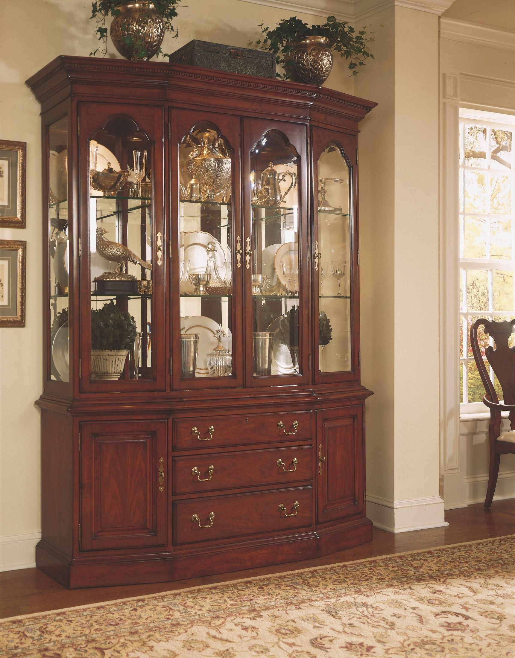 Cherry grove classic antique cherry china cabinet 792 for American classic antiques