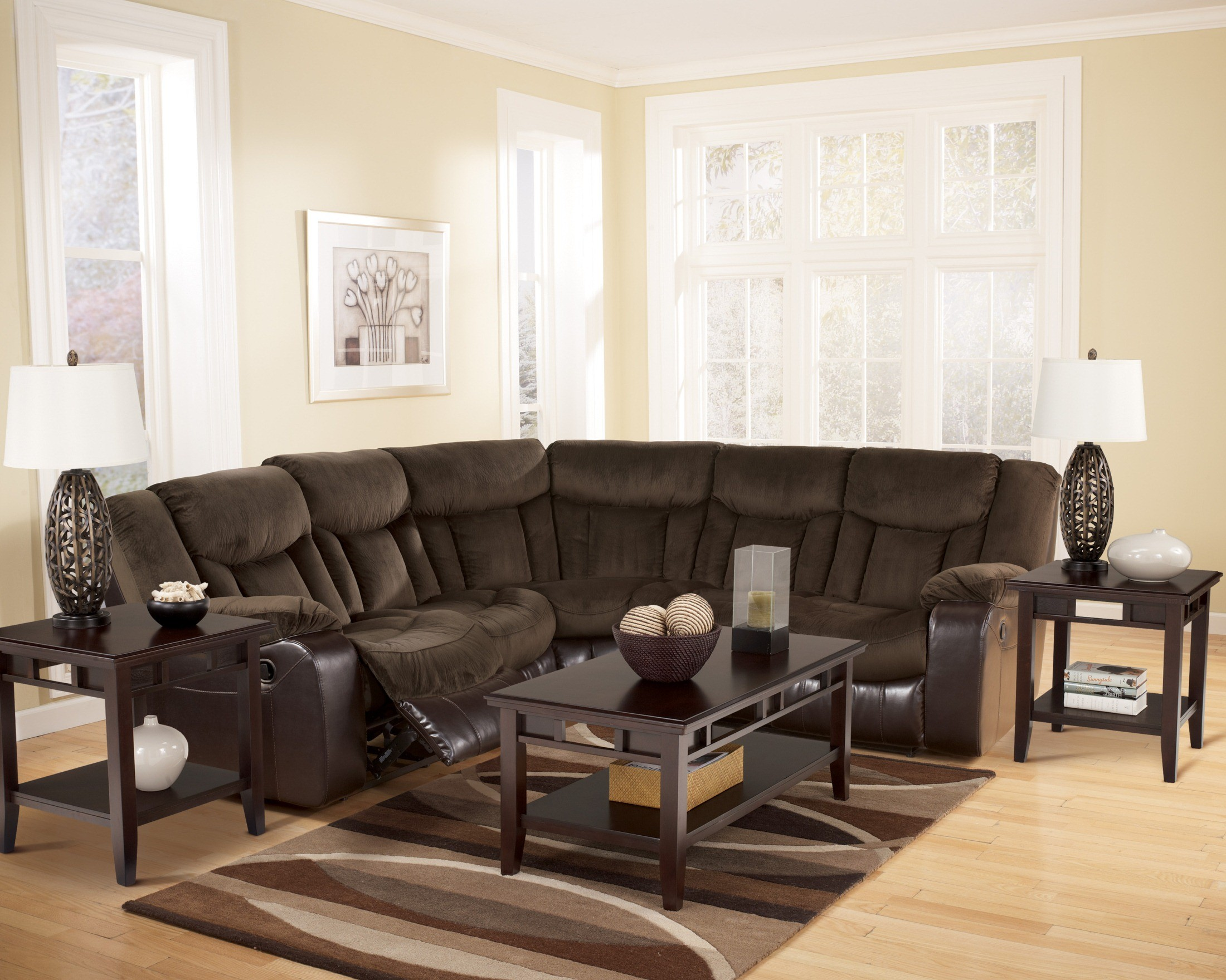 Tafton Java Sectional From Ashley 79202 48 49 Coleman Furniture