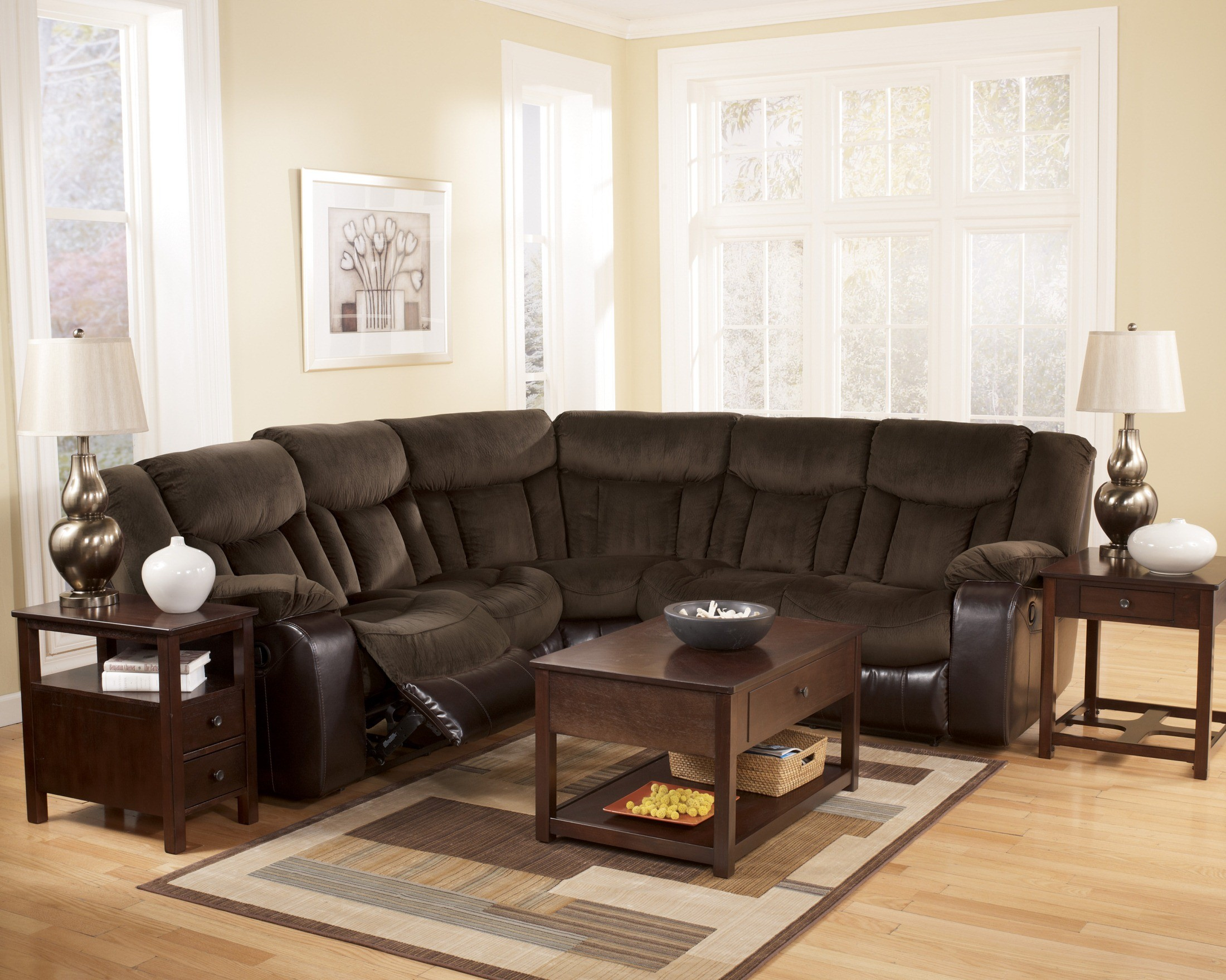 tafton java sectional from ashley 79202 48 49 coleman