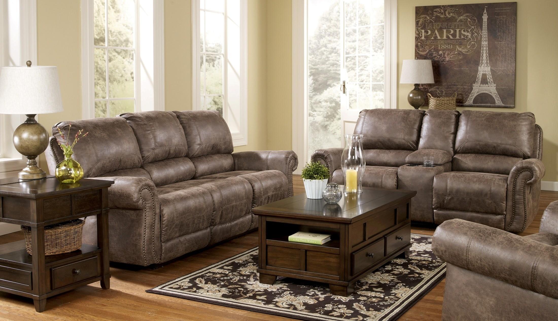 oberson gunsmoke power reclining living room set from ashley 74100 coleman furniture