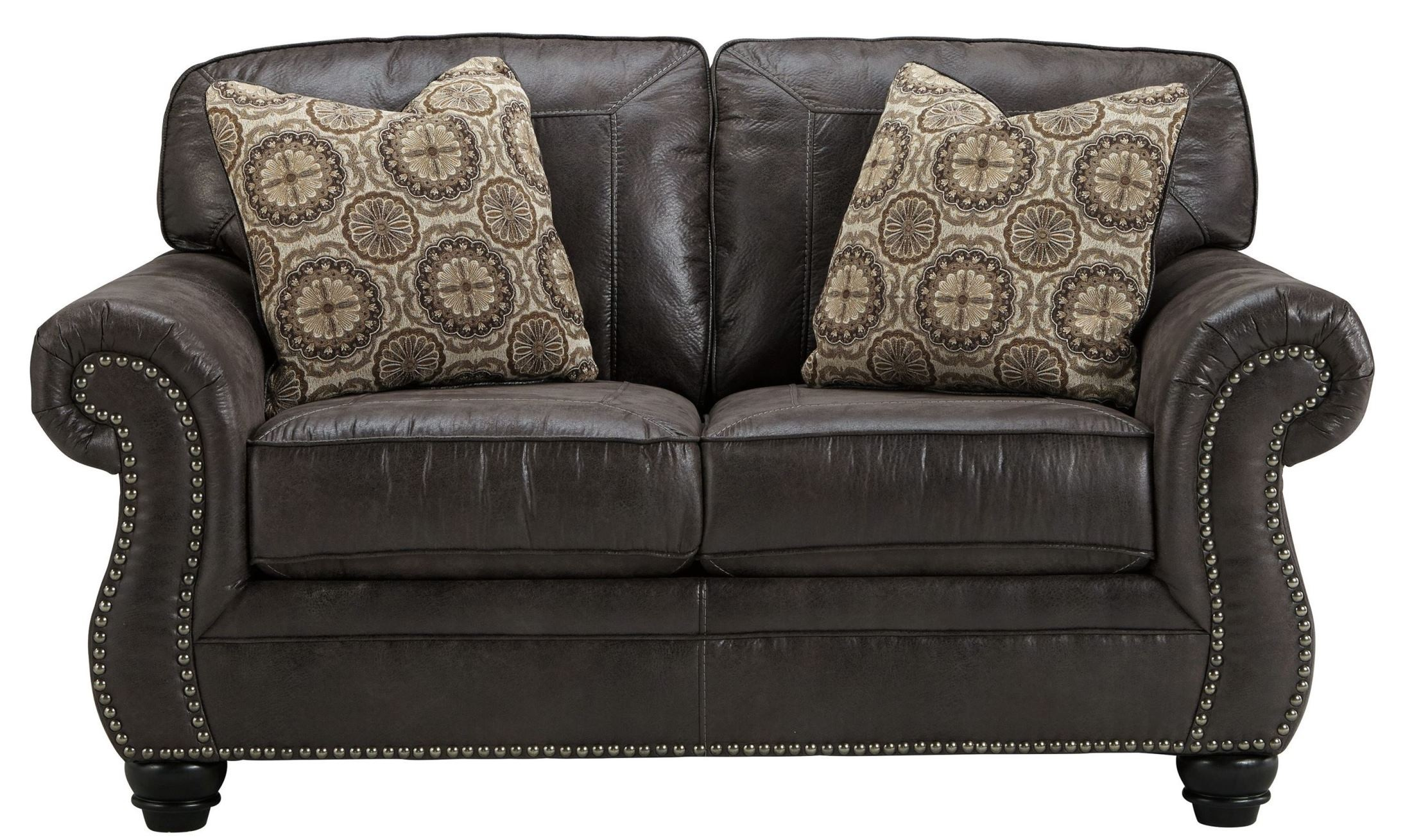 Breville Charcoal Loveseat From Ashley 8000435 Coleman Furniture