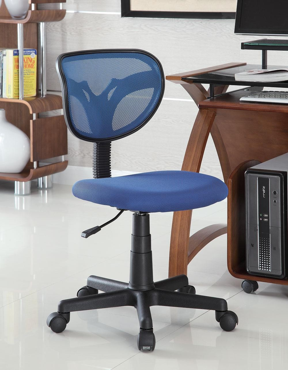 blue mesh office chair 800055b from coaster 800055b