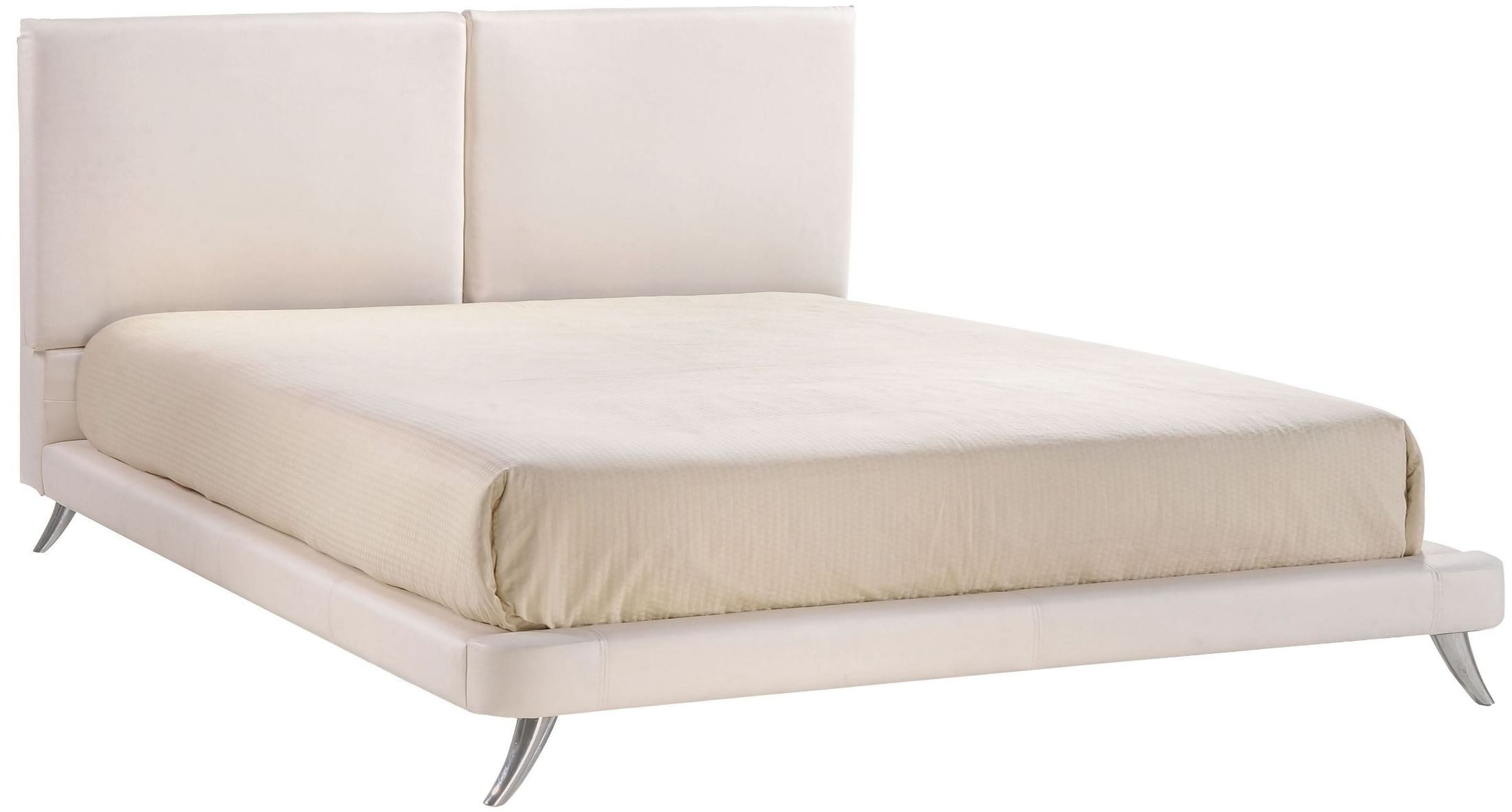 Rivette White King Platform Bed From Zuo Mod  Coleman