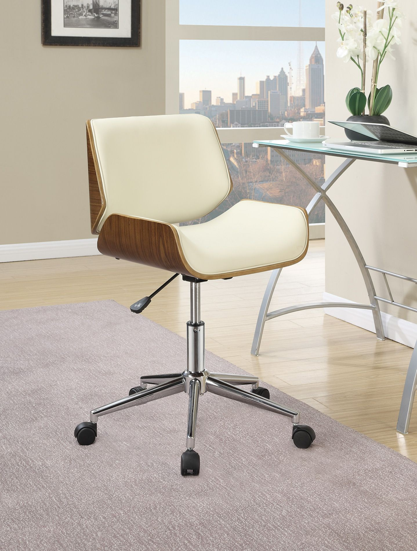 800613 Ecru Office Chair From Coaster 800613 Coleman