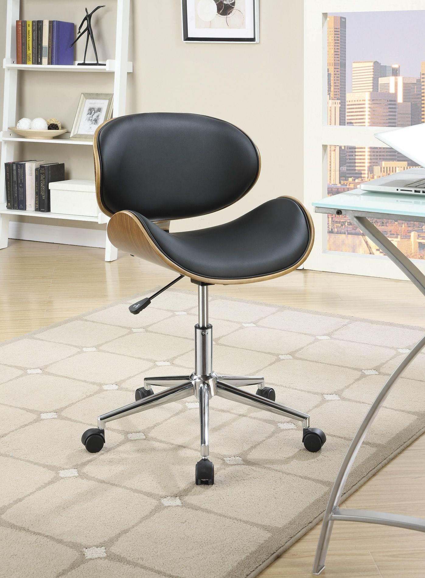 800614 black office chair from coaster 800614 coleman furniture