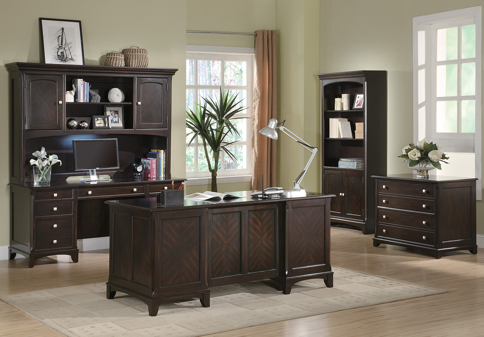 Garson Home Office Home Office Set 80101 Coaster Furniture