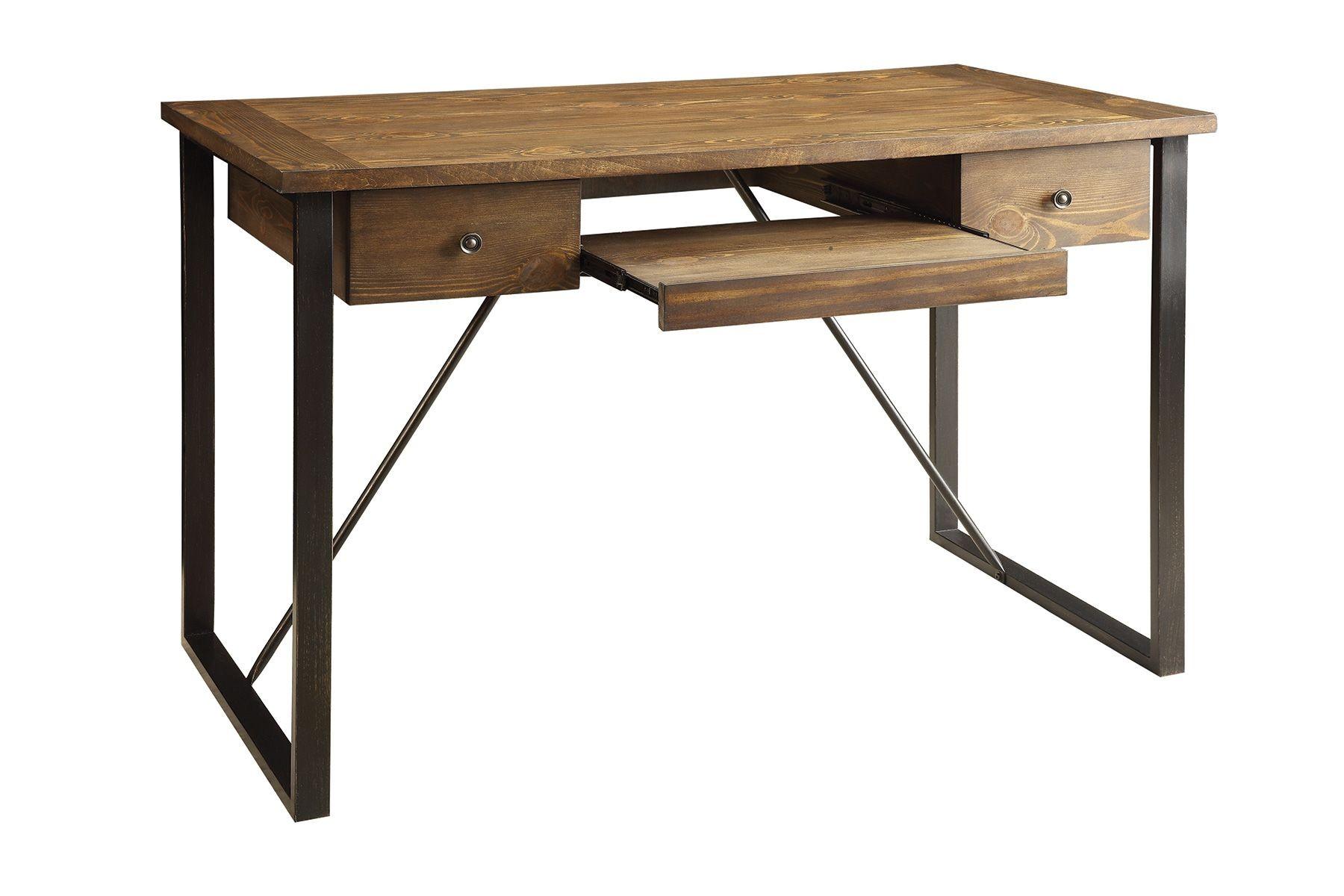walnut 2 drawer writing desk from coaster 801200 coleman furniture. Black Bedroom Furniture Sets. Home Design Ideas