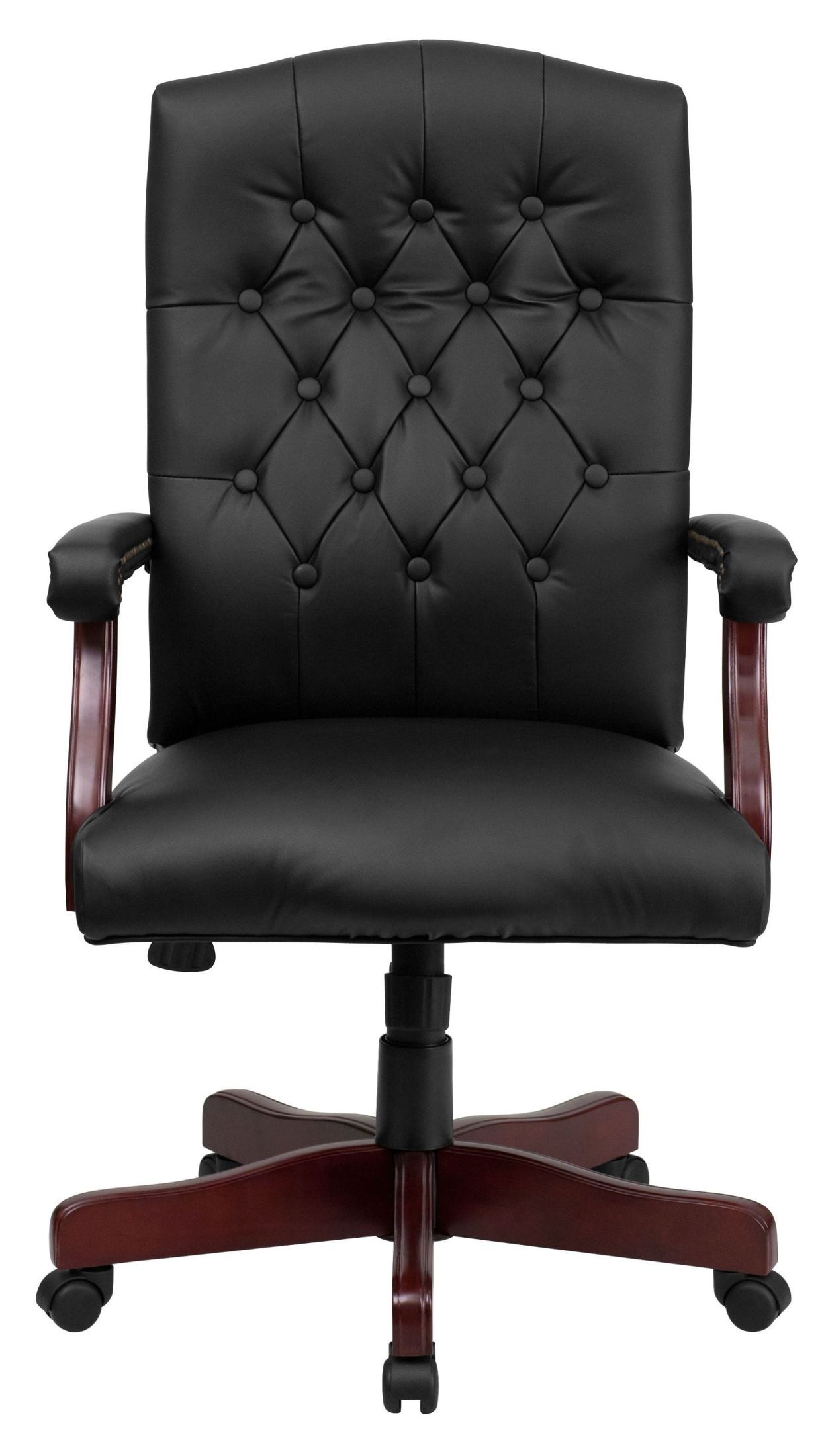 Martha Washington Leather Executive Swivel Chair From
