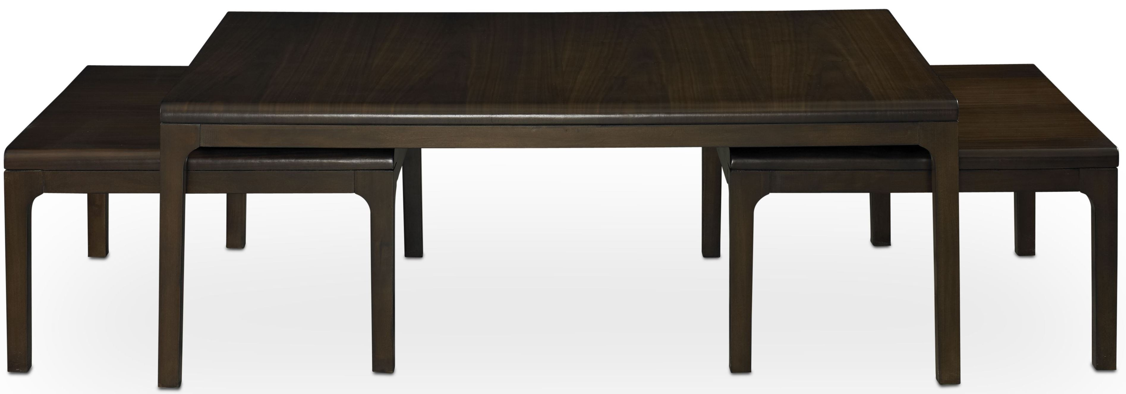 Long Nesting Tables ~ Improv in b clear brown nesting cocktail table a
