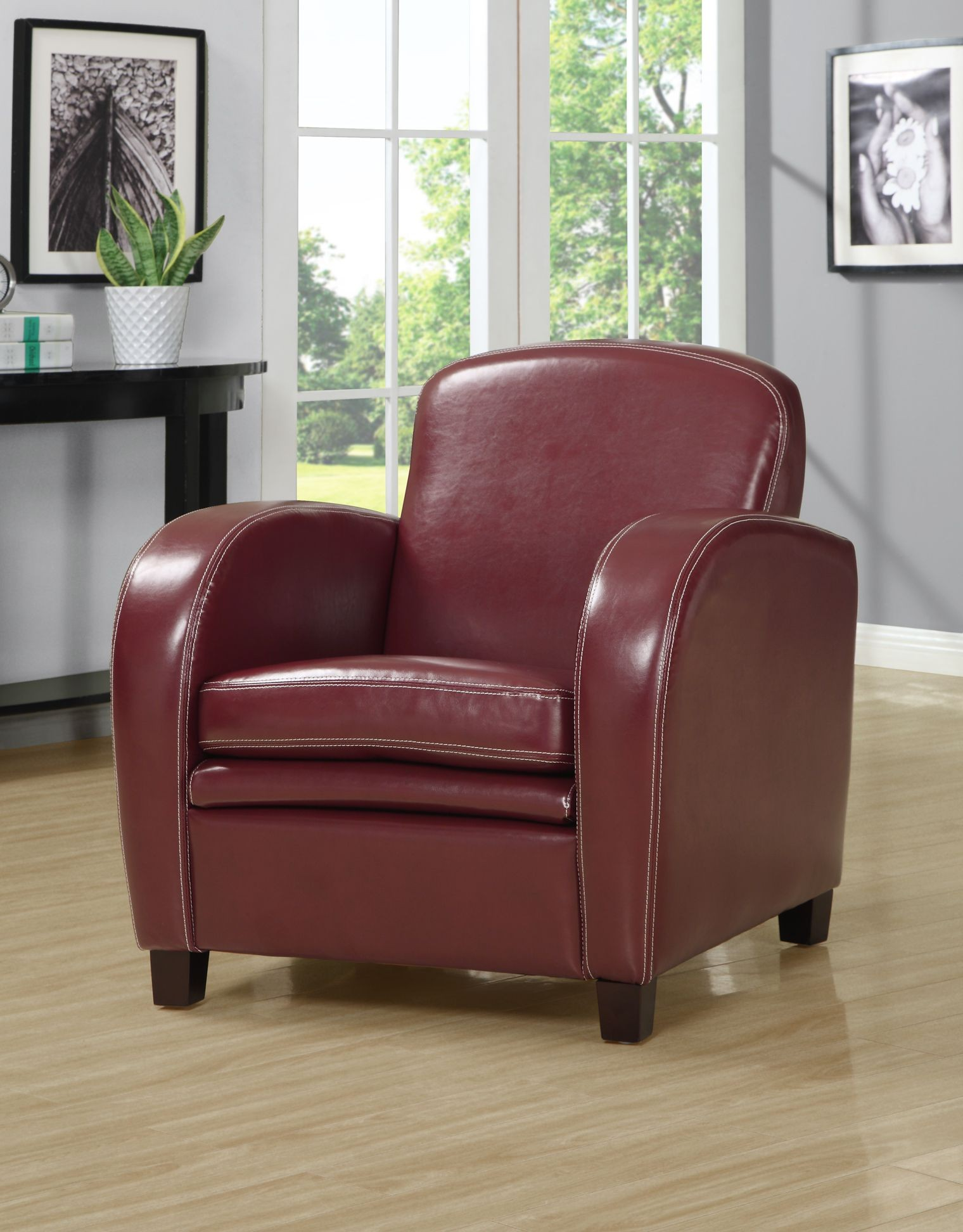 Red Accent Chair From Monarch 8039 Coleman Furniture