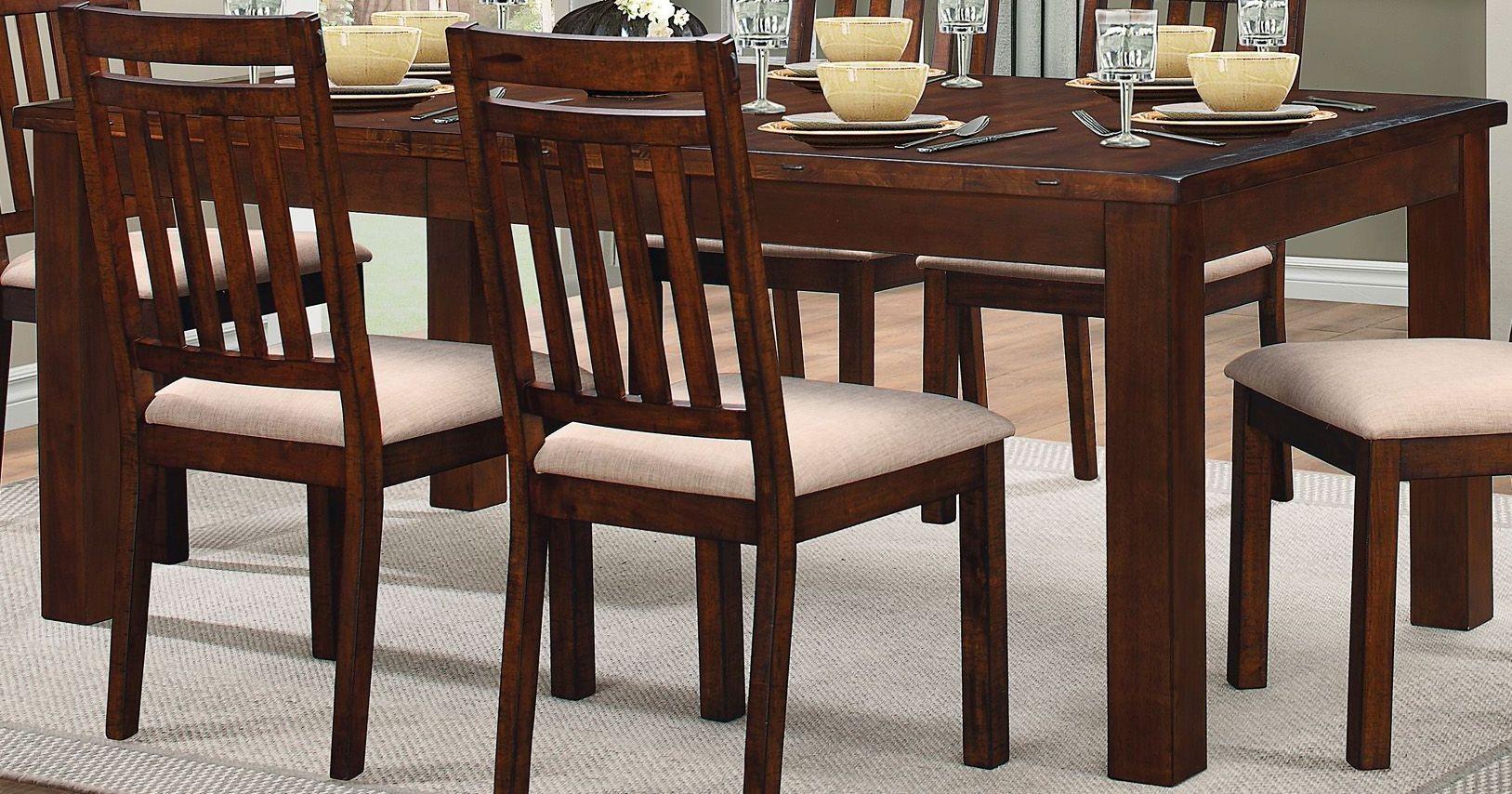 Santos brown dining room set 8079 78 homelegance for Brown dining room set