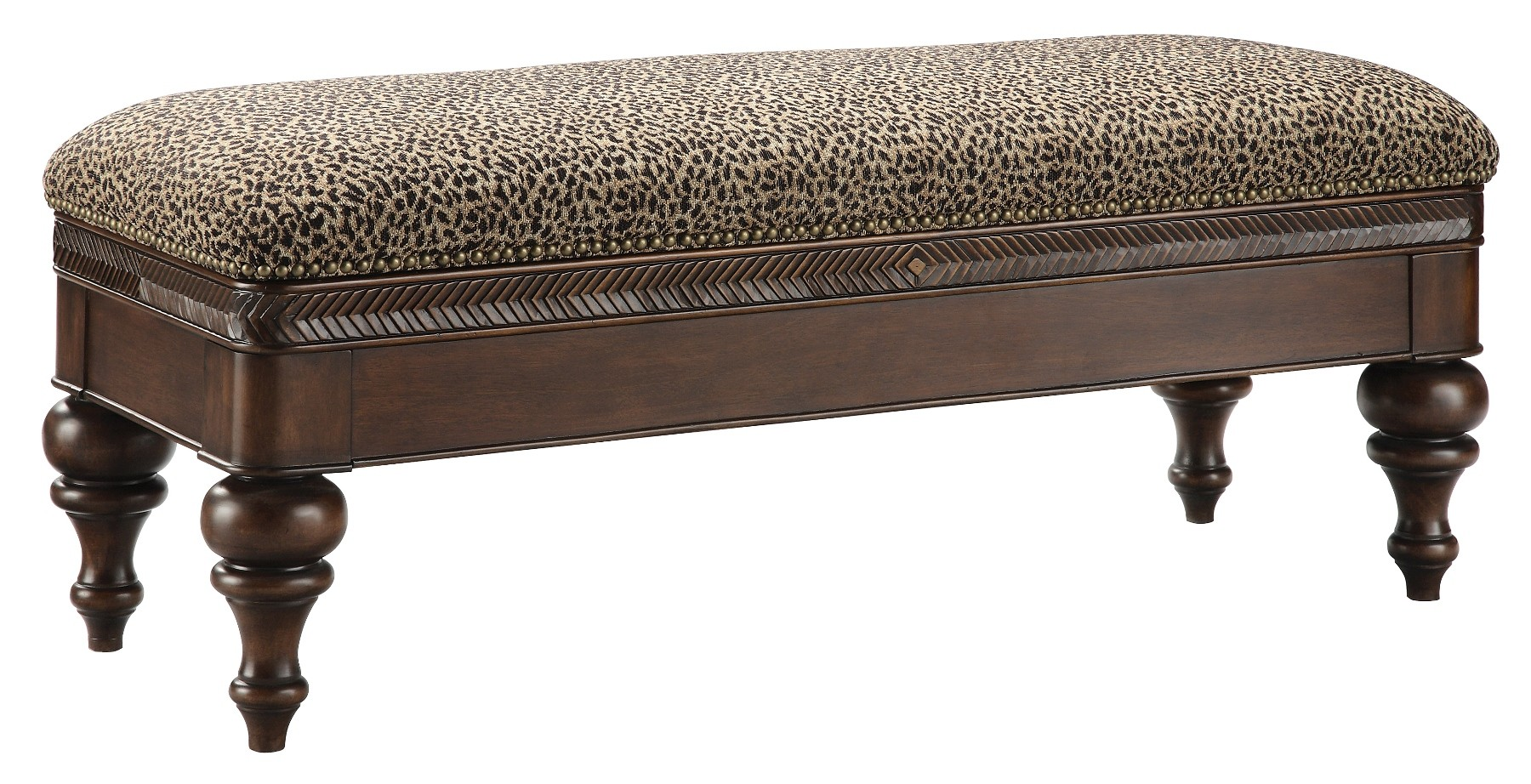 Leopard pattern bench 80820 stein world Leopard print bench