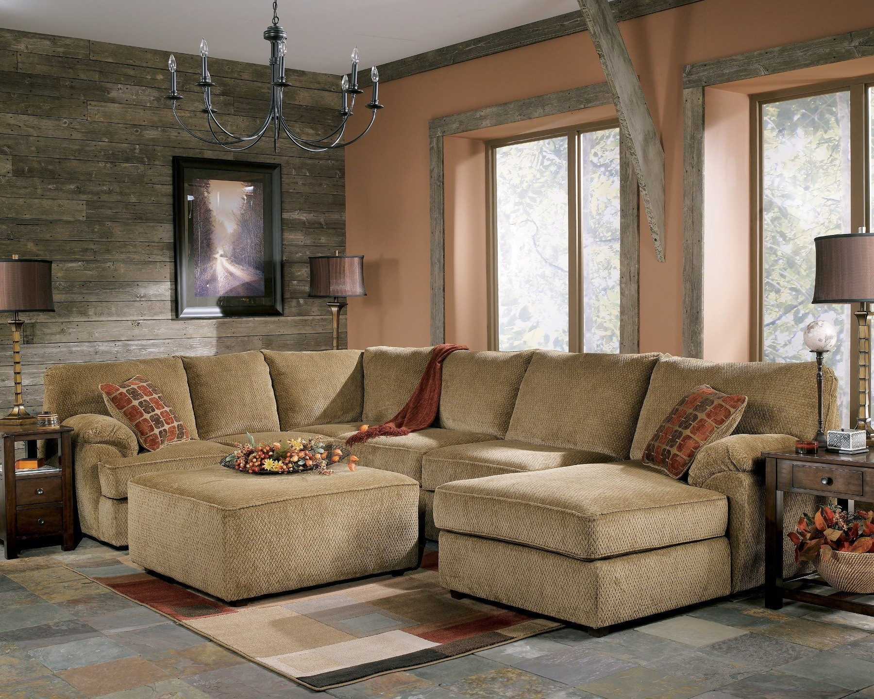 bartlett caramel right corner sectional d8120167