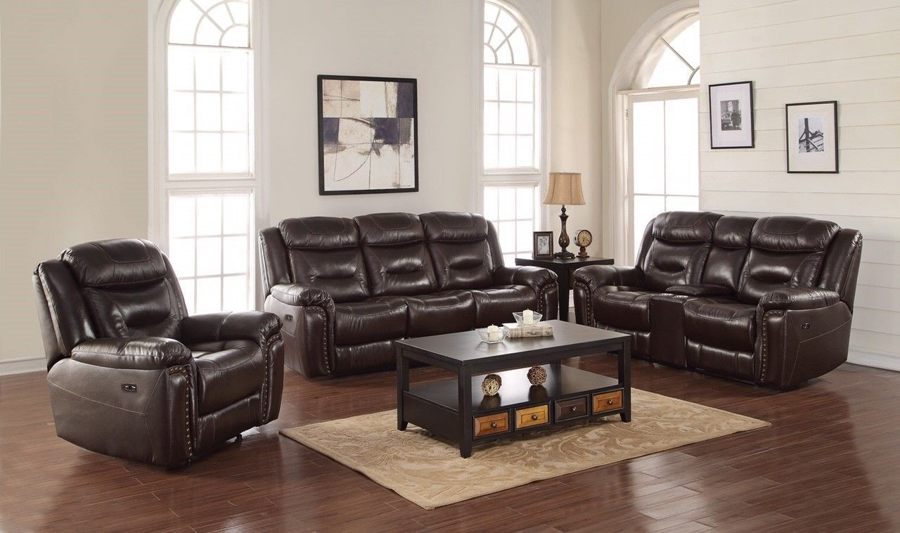 Bradley Expresso Power Reclining Living Room Set UL8139 PS Avalon Furniture