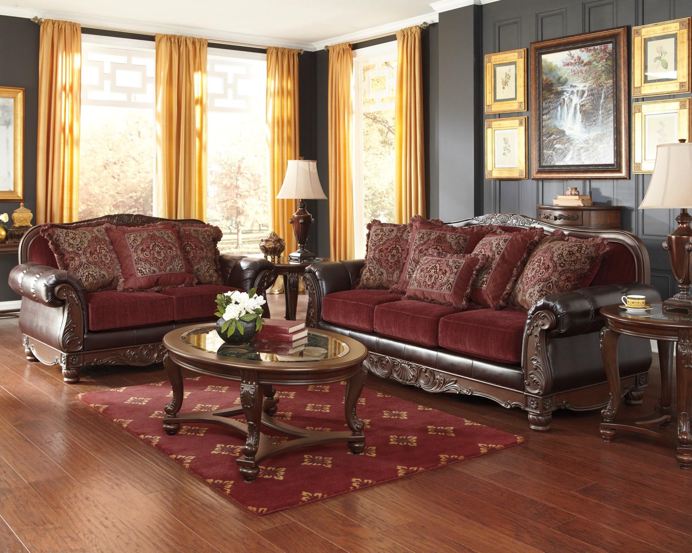 weslynn place burgundy sofa 8240238 ashley furniture