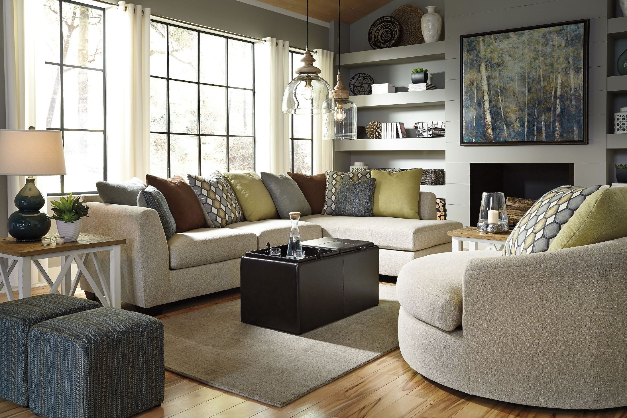 Oversized Swivel Chairs For Living Room Casheral Linen Oversized Swivel Accent Chair From Ashley 8290121