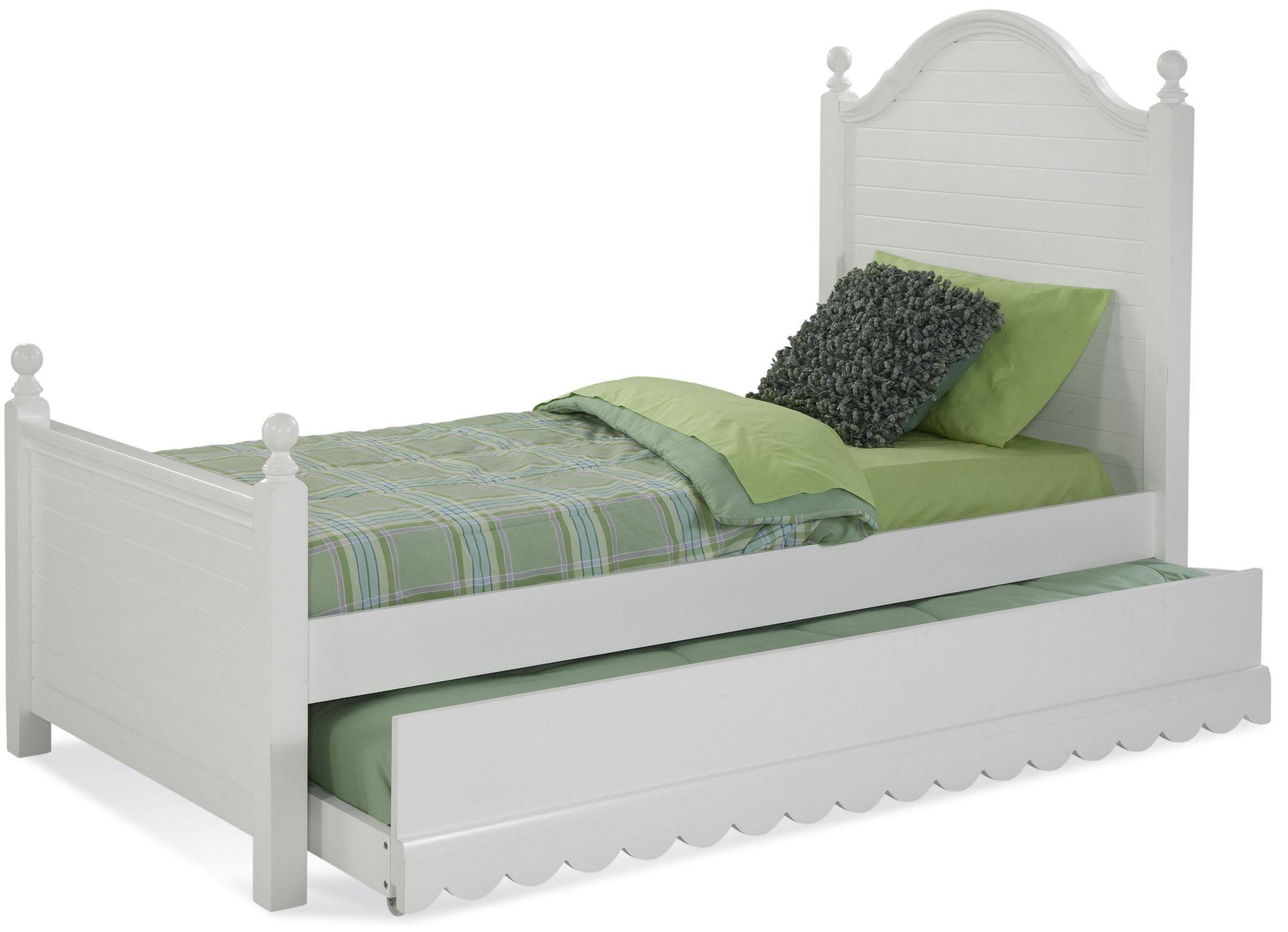 Jasmine white twin poster bed 8300 970 875 american for White twin beds for sale