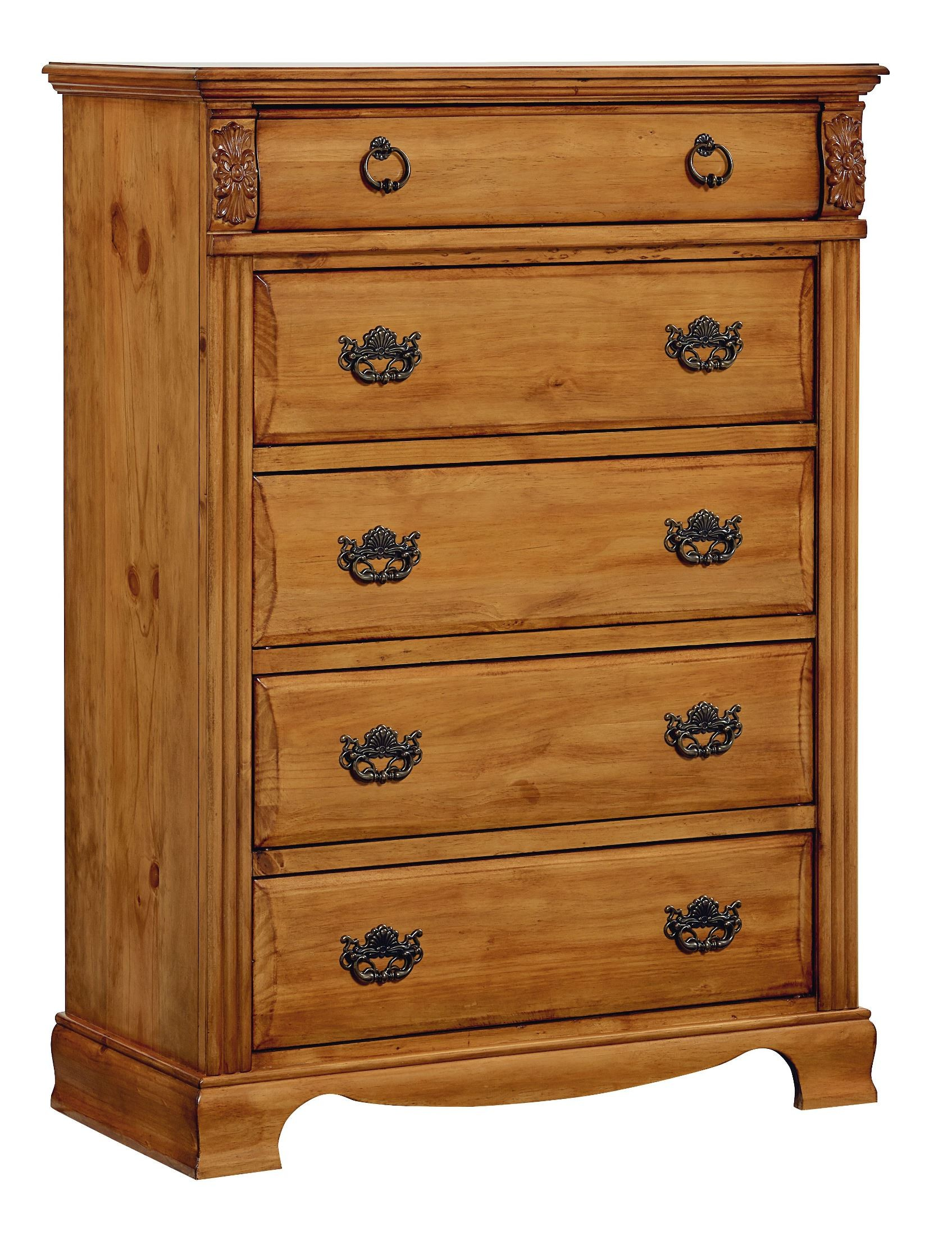 Georgetown Golden Honey Pine Poster Bedroom Set From Standard 83001