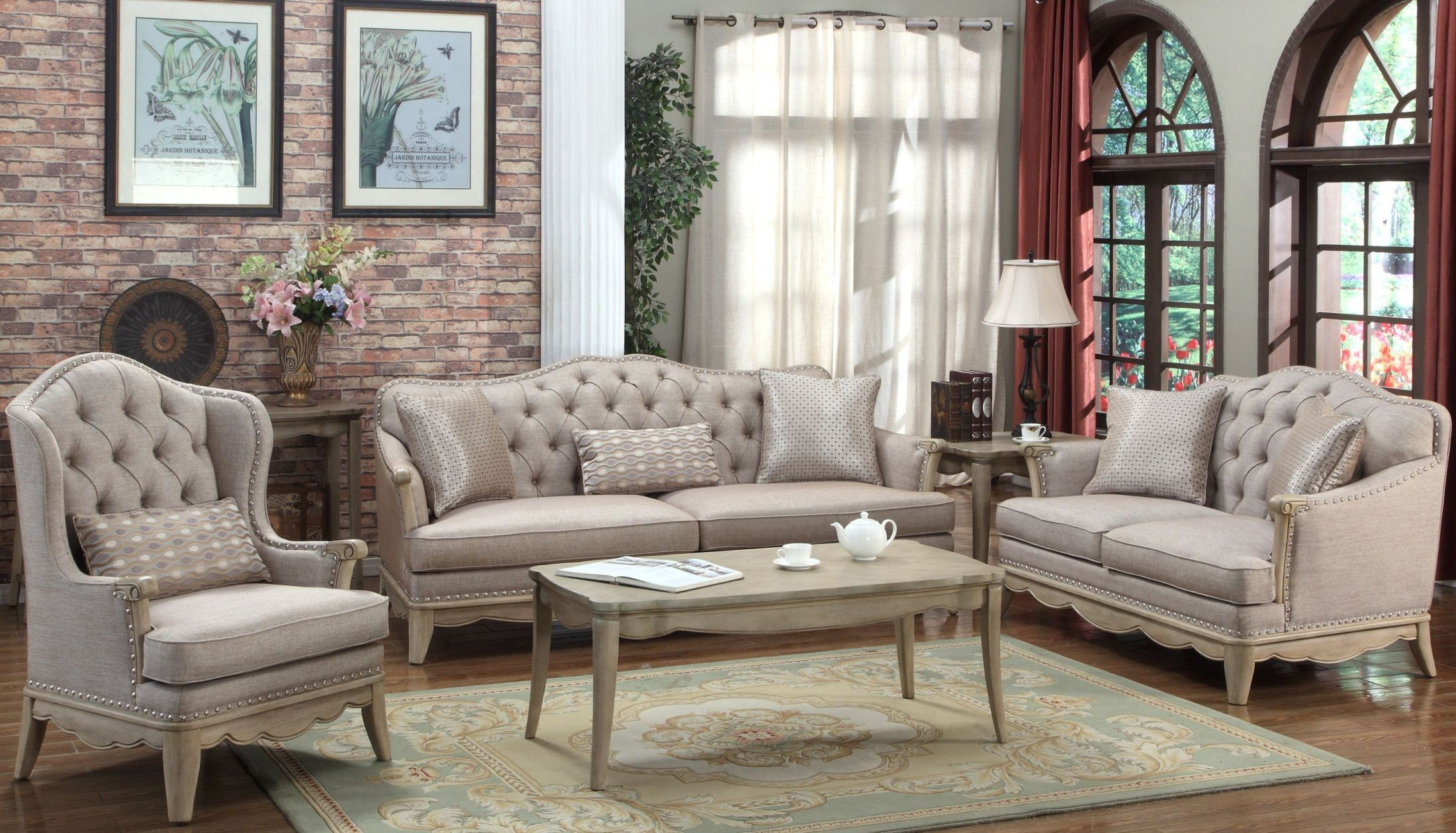 ashden cream living room set 2342361 homelegance
