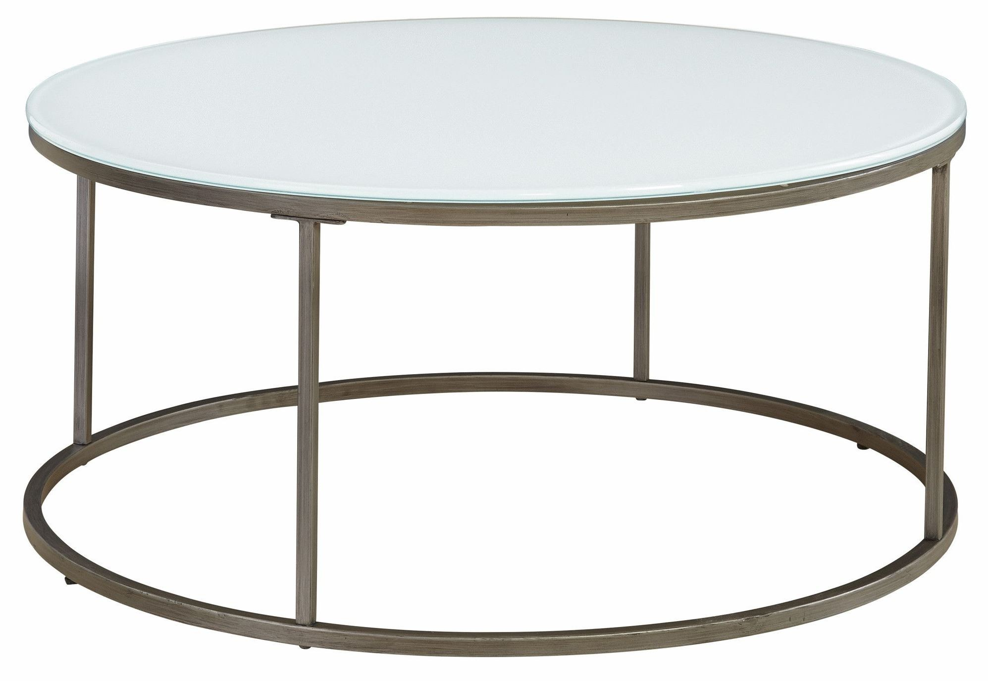 Alana Frosted Glass Top Round Coffee Table 836 075 Glf 075 Casana